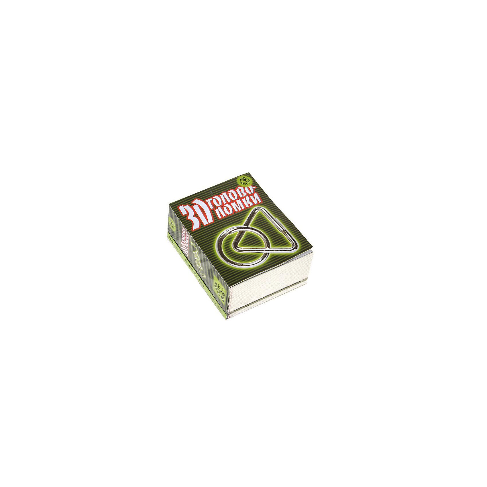 Набор 3D головоломкиМини-маэстро «3D головоломки»<br>В этом наборе есть 9 металлических пространственных головоломок, разгадать которые непросто даже взрослому. Но если ты сразу не справишься, то в книге найдешь подсказки!<br>Дополнительная информация:<br>В набор входит:<br>- Книга с инструкциями 48 стр., цв. илл.,<br>- 9 металлических головоломок.<br>Размер упаковки (д/ш/в): 95 х 52 х 120 мм<br>Помни! На любой предмет можно смотреть под разным углом зрения!<br><br>Ширина мм: 95<br>Глубина мм: 52<br>Высота мм: 120<br>Вес г: 300<br>Возраст от месяцев: 72<br>Возраст до месяцев: 144<br>Пол: Унисекс<br>Возраст: Детский<br>SKU: 2358193
