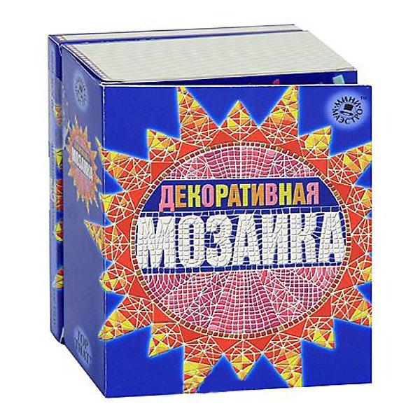 Набор Декоративная мозаикаМозаика<br>Мини-маэстро «Декоративная мозаика»<br>Научись создавать украшения и картины из мозаики, используя пошаговые инструкции и рисунки этой книги. Даже футляр для очков может выглядеть великолепно!<br>Дополнительная информация:                                                                                                   В набор входит:<br>- Книга с инструкциями 48 стр., цв. илл.,<br>- декоративная мозаика, <br>- клей, <br>- аппликатор, <br>- 2 фоторамки.<br>Размер упаковки (д/ш/в): 95 х 52 х 120 мм<br>Преврати свой дом в произведение искусства!<br>Ширина мм: 95; Глубина мм: 52; Высота мм: 120; Вес г: 300; Возраст от месяцев: 72; Возраст до месяцев: 144; Пол: Женский; Возраст: Детский; SKU: 2358197;