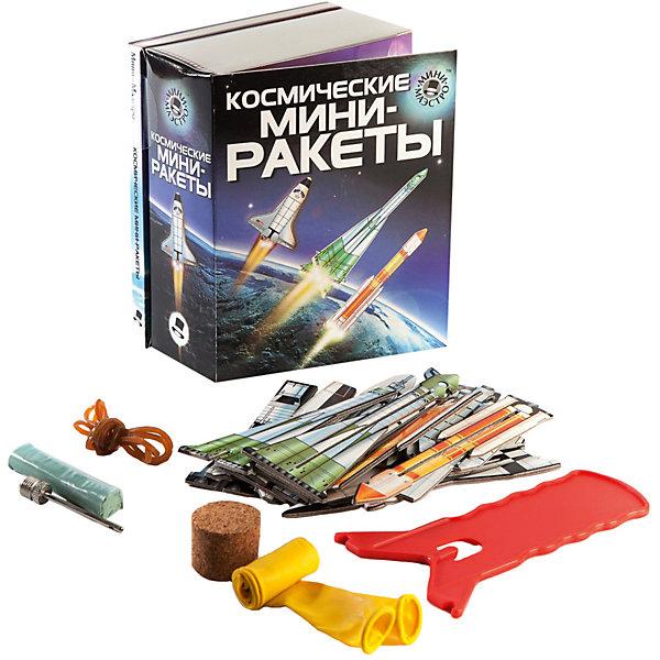 Набор Космические мини-ракетыХимия и физика<br>Мини-маэстро «Космические мини-ракеты»<br>В наборе есть 48-страничная книга о космических ракетах и 8 ракет для запуска. Ты узнаешь о принципе реактивного движения и сможешь сконструировать собственные ракеты, работающие на сжатом воздухе.<br>Дополнительная информация:<br>В набор входит:<br>- Книга с инструкциями 48 стр., цв. илл.,<br>- 8 мини-ракет, <br>- устройство для запуска, <br>- 4 резинки, <br>- 2 шарика, пробка, замазка, игольчатый клапан.<br>Размер упаковки (д/ш/в): 95 х 52 х 120 мм<br>С этим набором ты станешь экспертом по ракетам!<br><br>Ширина мм: 95<br>Глубина мм: 52<br>Высота мм: 120<br>Вес г: 300<br>Возраст от месяцев: 72<br>Возраст до месяцев: 144<br>Пол: Мужской<br>Возраст: Детский<br>SKU: 2358207