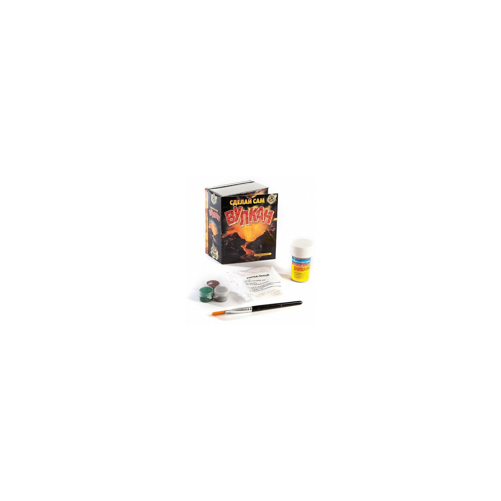 Набор Сделай сам вулканХимия<br>Мини-маэстро «Сделай сам вулкан» - в этом наборе ты найдешь много интересных фактов о вулканах и даже сможешь устроить извержение своего собственного вулкана! В книге ты найдешь подробное руководство с иллюстрациями.<br>Дополнительная информация:<br>В набор входит:<br>- Книга с инструкциями 48 стр., цв. илл.,<br>- порошок для папье-маше, <br>- краски, кисточка, <br>- смесь для извержения вулкана.<br>Размер упаковки (д/ш/в): 95 х 52 х 120 мм<br><br>Ширина мм: 95<br>Глубина мм: 52<br>Высота мм: 120<br>Вес г: 300<br>Возраст от месяцев: 72<br>Возраст до месяцев: 144<br>Пол: Мужской<br>Возраст: Детский<br>SKU: 2358217