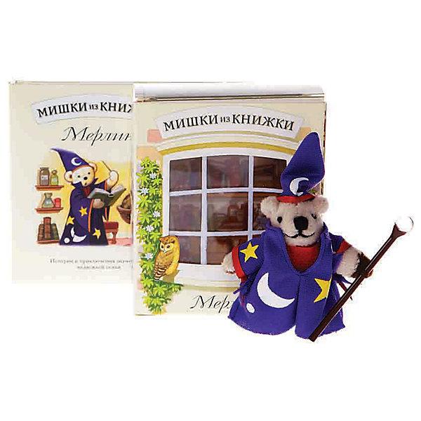 Мишки из книжки МерлинСказки<br>Мишки из книжки Мерлин Сказка о добром волшебнике Мерлине и сам мишка-волшебник в придачу.<br>Дополнительная информация:<br>Состав набора:<br>• Книга со сказкой 48 стр., суперобложка, цветные иллюстрации <br>• Игрушечный мишка Мерлин <br>• Картонная комнатка для мишки<br>Размер упаковки (д/ш/в): 80 х 50 х 95 мм<br>Ширина мм: 80; Глубина мм: 50; Высота мм: 95; Вес г: 170; Возраст от месяцев: 36; Возраст до месяцев: 72; Пол: Унисекс; Возраст: Детский; SKU: 2358233;