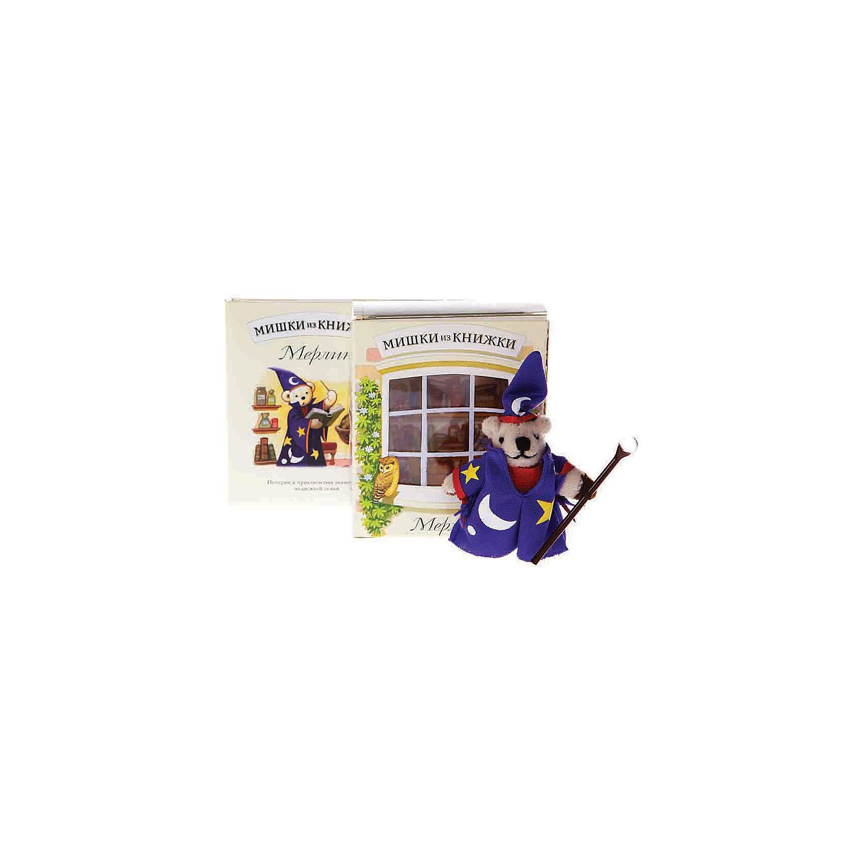 Мишки из книжки МерлинЗарубежные сказки<br>Мишки из книжки Мерлин Сказка о добром волшебнике Мерлине и сам мишка-волшебник в придачу.<br>Дополнительная информация:<br>Состав набора:<br>• Книга со сказкой 48 стр., суперобложка, цветные иллюстрации <br>• Игрушечный мишка Мерлин <br>• Картонная комнатка для мишки<br>Размер упаковки (д/ш/в): 80 х 50 х 95 мм<br><br>Ширина мм: 80<br>Глубина мм: 50<br>Высота мм: 95<br>Вес г: 170<br>Возраст от месяцев: 36<br>Возраст до месяцев: 72<br>Пол: Унисекс<br>Возраст: Детский<br>SKU: 2358233