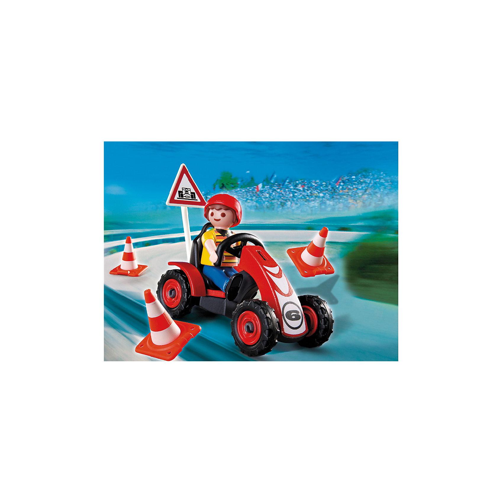 PLAYMOBIL 4759 Новые фигурки: Мальчик на гоночной машинке