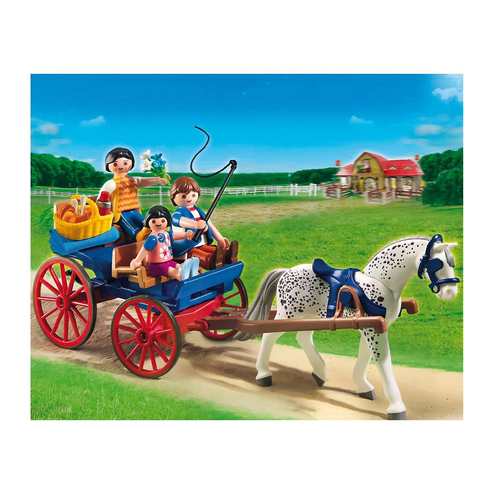 PLAYMOBIL® PLAYMOBIL 5226 Лошади: Повозка, запряженная лошадью игровые наборы tomy игровой набор приключения трактора джонни и лошади на ферме
