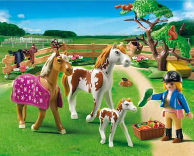 PLAYMOBIL® Лошади: Загон для лошадей, PLAYMOBIL