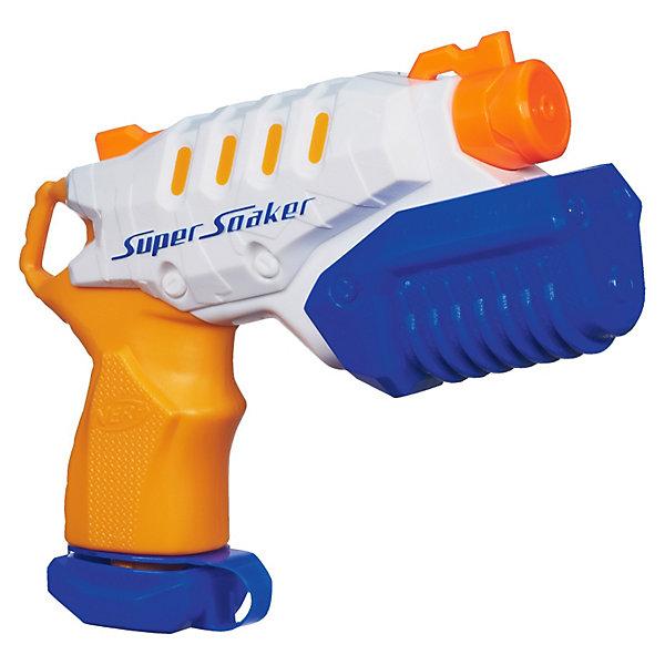 Super Soaker Водяной бластер Микро БёрстИгрушечное оружие<br>Hasbro SUPER SOAKER Водяной бластер Микро Бёрст - компактный бластер с ручным режимом перезарядки! <br><br>Несмотря на свой малый размер, с помощью воздушного механизма водяной пистолет Микро Берст позволяет атаковать свою цель на расстоянии до 6 метров! Пистолет стреляет водой при помощи воздуха, закачиваемого воздушной помпой, установленной на водяной бластер. <br><br>Чтобы перезарядить бластер, необходимо передернуть рычаг под стволом бластера.<br><br> <br>Дополнительная информация:<br><br>- Игрушка не требует батареек.<br>- Патроны не нужны.<br>- Материалы: пластик.<br><br>Абсолютно безопасное оружие для веселых битв. Стреляет водой!<br>Ширина мм: 232; Глубина мм: 184; Высота мм: 55; Вес г: 210; Возраст от месяцев: 72; Возраст до месяцев: 120; Пол: Мужской; Возраст: Детский; SKU: 2385054;