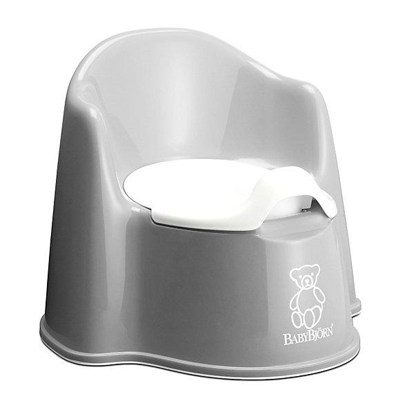 Кресло-горшок BabyBjorn, серыйДетские горшки<br>Кресло-горшок BabyBjorn (БэйбиБьёрн) - на нем максимально удобно сидеть!<br><br>Для ребенка так важно, чтобы горшок был удобным. Эргономический дизайн с мягкими формами прекрасно справляется с это задачей! Кресло-горшок BabyBjorn с высокой спинкой, удобные подлокотники, возможность свободно перемещать ноги позволяют ребенку комфортно сидеть столько, сколько необходимо. <br><br>Надежная защита от брызг, одинаково подходит как девочкам, так и мальчикам. <br><br>Богатая цветовая гамма и высококачественный пластик (используются исключительно экологически чистые материалы) никого не оставят равнодушными. Внутренняя часть горшка легко вынимается и моется отдельно.  Ребенку будет удобно садиться и вставать, опираясь на подлокотники.  <br><br>Размер отверстия: <br>- с внутренней частью: 18 х 11,5 см <br>- без внутренней части: 18,5 х 12 см <br><br>Высота сиденья: 15 см.<br><br>Кресло-горшок BabyBjorn серого цвета можно купить в нашем интернет-магазине.<br><br>Ширина мм: 369<br>Глубина мм: 360<br>Высота мм: 307<br>Вес г: 940<br>Цвет: серый<br>Возраст от месяцев: 18<br>Возраст до месяцев: 48<br>Пол: Унисекс<br>Возраст: Детский<br>SKU: 2388157