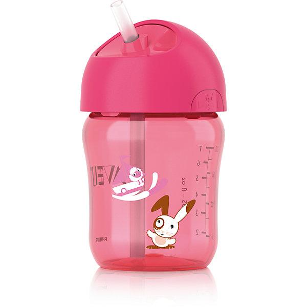 Кружка с трубочкой , 260 мл, AVENT, розовыйПоильники<br>Чашка с трубочкой Philips AVENT (Авент) отлично подойдет подрастающему малышу. <br>Герметичная чашка с завинчивающейся крышкой предназначена для обучения самостоятельному питанию, а также чашку легко разбирать и мыть.<br>Дополнительная информация:<br>- Гибкая силиконовая трубочка со встроенным герметичным клапаном<br>- Ребенок может самостоятельно открывать и закрывать крышку<br>- Завинчивающаяся крышка обеспечивает чистоту трубочки<br>- Совместимость с другими изделиями серии Philips AVENT (Авент)<br>- Для обеспечения гигиеничности всю чашку можно стерилизовать<br>- Небольшое количество деталей, из которых состоит чашка, упрощает чистку и сборку<br>- Все детали можно мыть в посудомоечной машине.<br>Кружку с трубочкой , 260 мл, AVENT в розовом цвете можно купить в нашем интернет-магазине.<br><br>Ширина мм: 85<br>Глубина мм: 145<br>Высота мм: 105<br>Вес г: 129<br>Возраст от месяцев: 12<br>Возраст до месяцев: 36<br>Пол: Женский<br>Возраст: Детский<br>SKU: 2388174