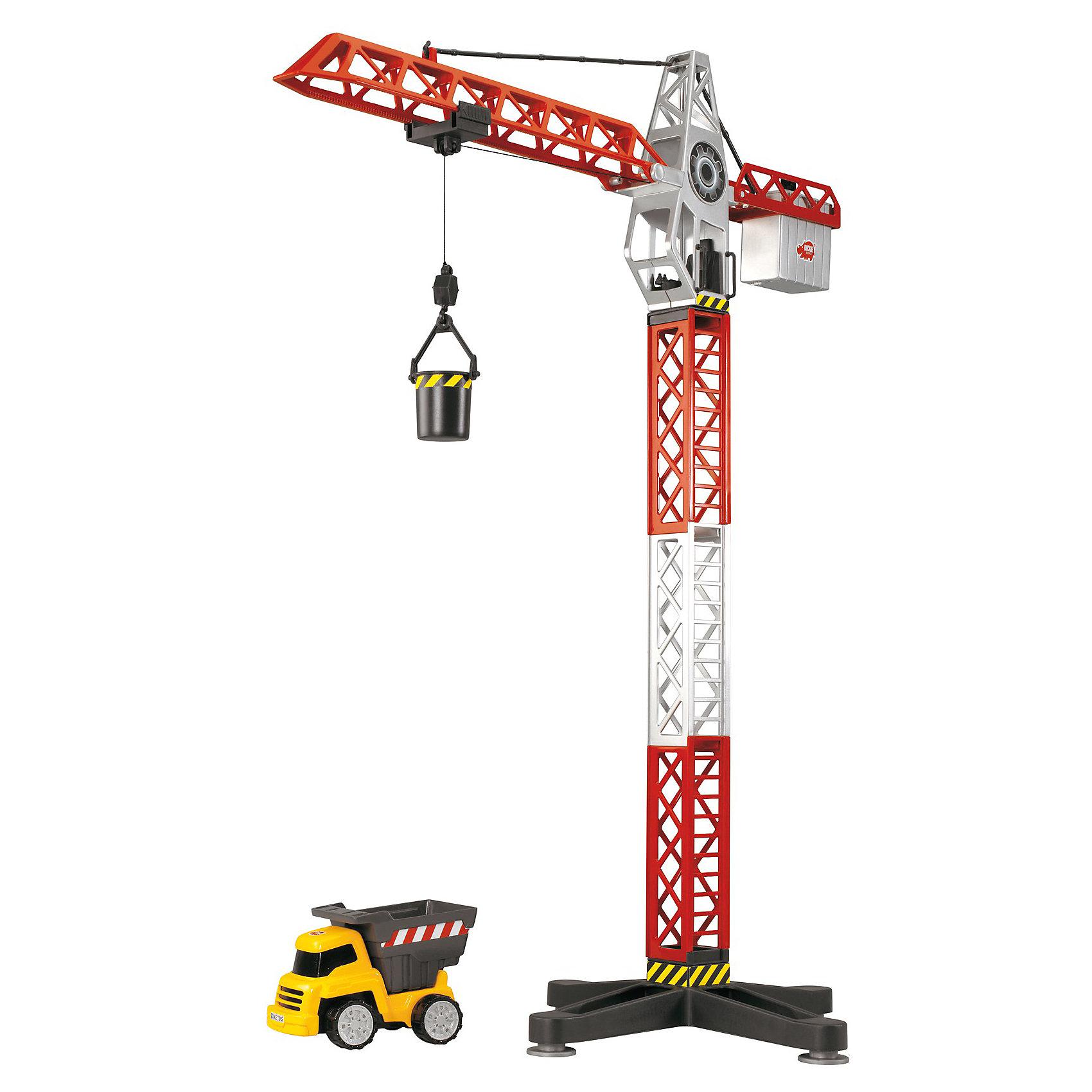 DICKIE Набор кран+самосвал, 67-13,5 см.DICKIE Набор кран+самосвал, 67-13,5 см. - замечательный игровой набор от Dickie Toys, который наверняка понравится всем юным любителям строительной техники. <br><br>С этим набором ваш ребенок сможет почувствовать себя совсем большим, взрослым строителем. Кран, входящий в набор , почти как настоящий и может поднимать и опускать грузы, а также разворачиваться на  360 °!  А самосвал позволит перемещать грузы до строительных объектов на любые расстояния. <br><br> Дополнительная информация:<br><br>- В комплект входят: строительный кран и самосвал.<br>- Кран разворачивается на 360 градусов, поднимает и опускает грузы.<br>- Высота крана: 67 см.<br>- Размер самосвала: 13,5 см.<br>- Материал: пластмасса.<br>- Для работы крана требуются 2 батарейки 1.5 В типа ААА (в комплект не входят).<br><br>Отличный игровой набор строительной техники для сюжетно-ролевых игр ваших детей!<br><br>DICKIE Набор кран+самосвал, 67-13,5 см. можно купить в нашем магазине.<br><br>Ширина мм: 555<br>Глубина мм: 304<br>Высота мм: 96<br>Вес г: 790<br>Возраст от месяцев: 36<br>Возраст до месяцев: 84<br>Пол: Мужской<br>Возраст: Детский<br>SKU: 2390808