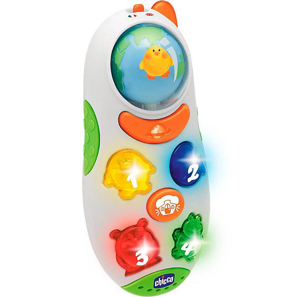 Игрушка развивающая Говорящий телефон (рус/англ), ChiccoИнтерактивные игрушки для малышей<br>Говорящая игрушка Мобильный телефон от Chicco помогает ребенку узнать первые слова в увлекательной игровой форме. <br><br>Яркий и разноцветный телефон говорит название цифр и знакомит малыша со звуками, которые издают животные. При нажатии кнопки Мир звери начинают бежать по кругу и петь веселую песенку. Игрушка двуязычная: простое переключение рычажка меняет язык.<br><br>Дополнительная информация:<br><br>Языки: русский, английский.<br>Размер упаковки (д/ш/в): 34,5 х 16,3 х 26,4 см.<br><br>Ширина мм: 345<br>Глубина мм: 163<br>Высота мм: 264<br>Вес г: 300<br>Возраст от месяцев: 24<br>Возраст до месяцев: 60<br>Пол: Унисекс<br>Возраст: Детский<br>SKU: 2395265