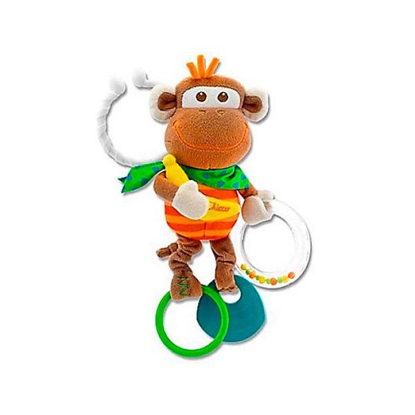 Развивающая игрушка «Обезьянка», ChiccoИгрушки для новорожденных<br>Развивающая игрушка «Обезьянка» Chicco (Чико) - смешная маленькая обезьянка с удобной системой крепления!<br><br>Очаровательная маленькая обезьянка, которую ребенок может взять с собой, благодаря удобному держателю. Она побуждает ребенка играть в различные игры: лапки обезьянки вибрируют, цветные шарики перекатываются в прозрачном колечке, банан шуршит, а мягкий пластик облегчает прорезывание зубов у детей. <br><br>Развивающую игрушку «Обезьянка» Chicco можно купить в нашем интернет-магазине.<br><br>Ширина мм: 375<br>Глубина мм: 240<br>Высота мм: 300<br>Вес г: 223<br>Возраст от месяцев: 3<br>Возраст до месяцев: 9<br>Пол: Унисекс<br>Возраст: Детский<br>SKU: 2395269