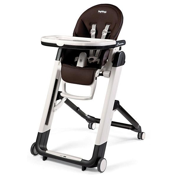 Стульчик для кормления Siesta, Peg-Perego, Cacao шоколадСтульчики для кормления<br>Удобный и функциональный стульчик Siesta, Peg-Perego, обеспечит комфорт и безопасность Вашего малыша во время кормления. Спинка сиденья легко регулируется в 5 положениях (вплоть до горизонтального), что позволяет использовать стульчик как для кормления так и для игр и<br>сна. Широкое и эргономичное мягкое сиденье будет удобно как малышу, так и ребенку постарше. Стульчик оснащен регулируемыми 5-точечными ремнями безопасности, а планка-разделитель для ножек под столиком не даст малышу соскользнуть. Высота стула регулируется в 9<br>положениях (от 33 до 65 см. от пола). Подножка регулируется в 3 позициях, позволяя выбрать оптимальное для ребенка положение. На задней части спинки размещается сетка для мелочей.<br><br>Широкий съемный столик оснащен подносом с отделениями для кружки или стакана, поднос можно снять для быстрой чистки и использовать основную поверхность для игр и занятий. Для детей постарше стул можно использовать без столика для кормления, придвинув его к столу<br>для взрослых. Ножки оснащены колесиками с блокираторами, что позволяет легко перемещать стульчик по комнате. Кожаный чехол легко снимается для чистки. Стульчик легко и компактно складывается и занимает мало места при хранении. Подходит для детей в возрасте от 0<br>месяцев до 3 лет.<br><br>Дополнительная информация:<br><br>- Цвет: Cacao шоколад.<br>- Материал: пластик, эко-кожа.<br>- Высота спинки сиденья: 44 см.<br>- Ширина сиденья: 27 см.<br>- Размер в разложенном состоянии: 60 х 75 х 104,5 см. <br>- Размер в сложенном состоянии: 60 х 35 х 89 cм. <br>- Вес: 7,6 кг.<br><br>Стульчик для кормления Siesta, Peg-Perego, Cacao шоколад, можно купить в нашем интернет-магазине.<br>Ширина мм: 910; Глубина мм: 630; Высота мм: 300; Вес г: 13600; Цвет: коричневый; Возраст от месяцев: 0; Возраст до месяцев: 36; Пол: Унисекс; Возраст: Детский; SKU: 2396302;