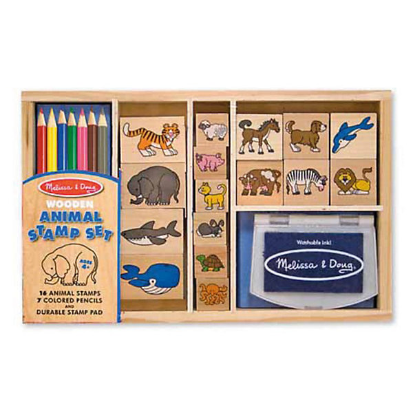 Большой набор печатей Животные, Melissa &amp; DougДетские штампы и трафареты<br>Характеристики:<br><br>• возраст: от 3 лет;<br>• комплектация: штемпельная подушка, 16 деревянных штампов, 7 цветных карандашей;<br>• материал: дерево, картон, пластик;<br>• упаковка: деревянная коробка;<br>• размер упаковки: 4х18х29 см;<br>• вес упаковки: 720 гр.;<br>• страна бренда: США.<br><br>Большой набор печатей  Melissa &amp; Doug (Мелисса и Даг) «Животные» с лесными животными и жителями морских глубин. Проявив фантазию они оживут в рисунках ребенка. <br><br>Набор включает в себя 16 печатей с изображением различных обитателей суши и морских глубин, домашних животных и диких хищников, набор из 7 цветных карандашей и штемпельной подушечки, которая пропитана легко смываемыми чернилами.<br><br>Хранить все детали удобно в деревянной коробке с различными отсеками. Набор развивает логическое фантазию, мышление ребенка, улучшает зрительную память и координирует движения.<br><br>Большой набор печатей «Животные» можно купить  в нашем интернет- магазине.<br>Ширина мм: 40; Глубина мм: 180; Высота мм: 290; Вес г: 730; Возраст от месяцев: 48; Возраст до месяцев: 84; Пол: Унисекс; Возраст: Детский; SKU: 2401083;