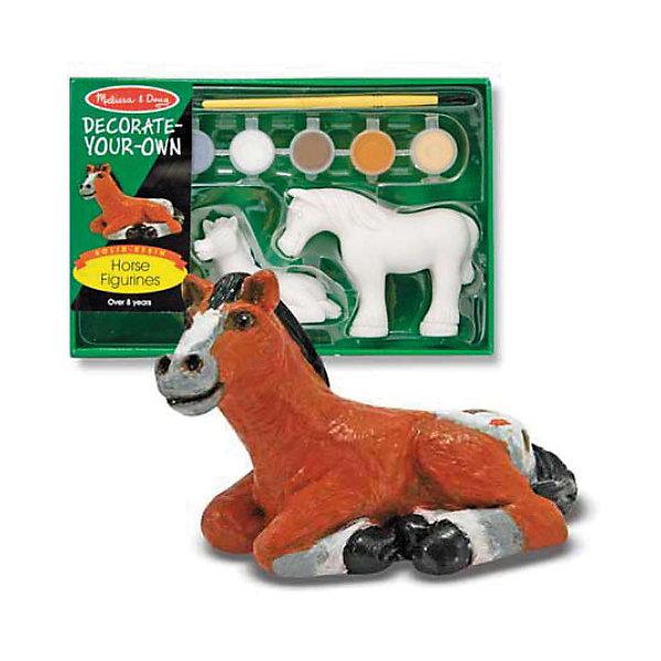 Melissa &amp; Doug Набор Разукрась фигурку лошадиНаборы для раскрашивания<br>Melissa &amp; Doug Набор Разукрась фигурку лошади поможет развить ребенку его творческие способности. Повеселитесь, раскрашивая эту заботливую лошадку и ее жеребенка. <br><br>Набор включает две готовые твердые смоляные фигурки, 6 баночек нетоксичных красок и кисть, которую легко очищать.<br><br>Размер упаковки: 13 х 6 х 20 см<br><br>Ширина мм: 60<br>Глубина мм: 130<br>Высота мм: 200<br>Вес г: 250<br>Возраст от месяцев: 36<br>Возраст до месяцев: 72<br>Пол: Унисекс<br>Возраст: Детский<br>SKU: 2401085
