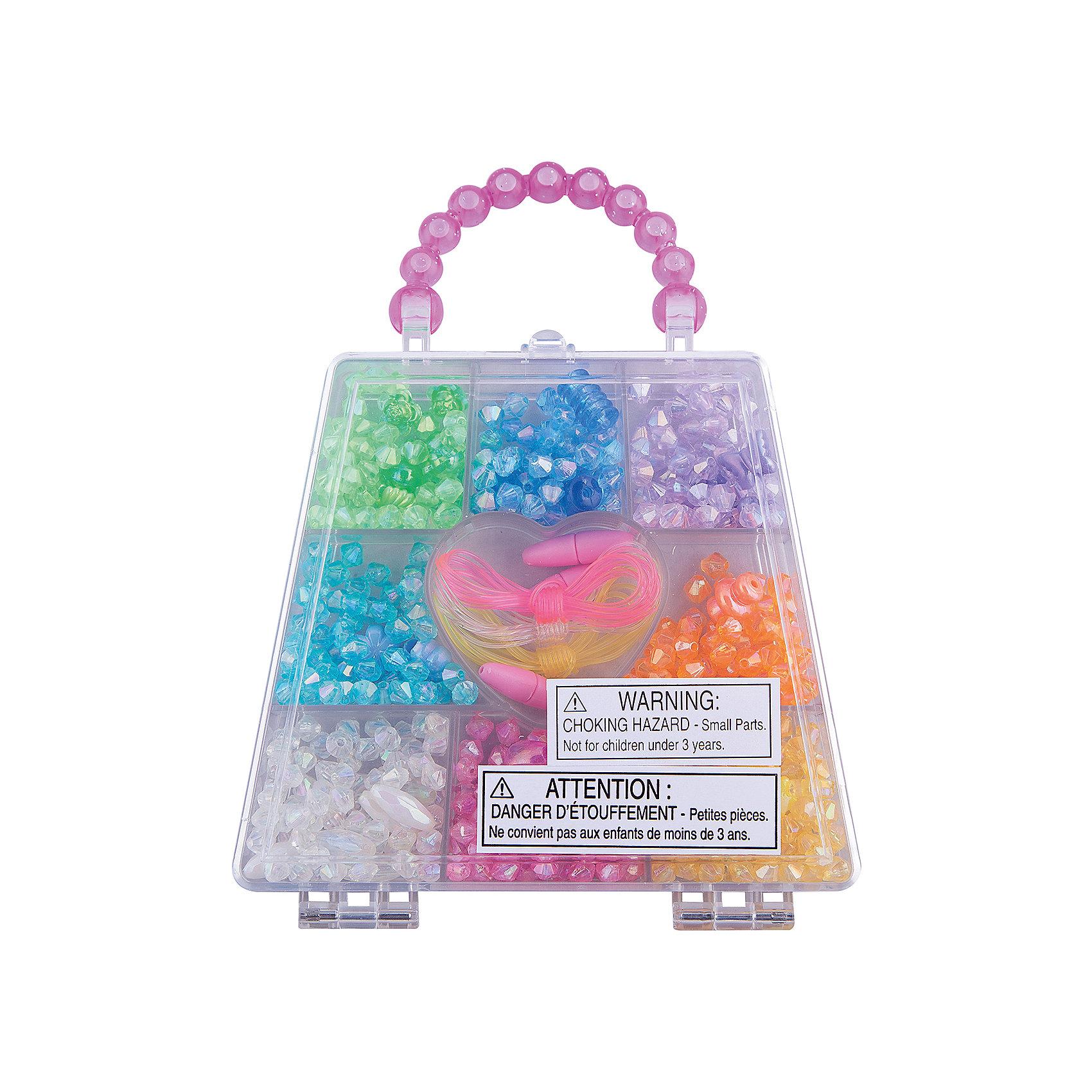 Набор бусин Радужные кристаллы, Melissa &amp; DougС помощью Набора бусин Радужные кристаллы, Melissa &amp; Doug (Мелисса и Даг), хранящегося в удобном прозрачном чемоданчике, Вы сможете создать оригинальные браслеты, колье и другие украшения, которые непременно привлекут внимание окружающих. Набор включает более 150 бусин разнообразных форм (круглые, овальные, фигурные, цветочки, конусы), нанизывая которые на декоративные шнурки, девочка без лишних усилий и подготовки сможет собрать необычные украшения для себя, родных и подруг. Мелкие детали способствуют развитию моторики ручек, усидчивости, творческих навыков. <br><br>Комплектация: 500 бусин, шнуры для нанизывания, чемоданчик с отделениями<br><br>Дополнительная информация:<br>-Материал: пластик<br>-Размер упаковки: 2,5х16,5х13 см<br><br>Творческий набор бусин «Радужные кристаллы» станет отличным подарком для девочки и обеспечит ей прекрасное времяпрепровождение.<br><br>Набор бусин Радужные кристаллы, Melissa &amp; Doug (Мелисса и Даг) можно купить в нашем магазине.<br><br>Ширина мм: 20<br>Глубина мм: 120<br>Высота мм: 130<br>Вес г: 280<br>Возраст от месяцев: 72<br>Возраст до месяцев: 120<br>Пол: Унисекс<br>Возраст: Детский<br>SKU: 2401087