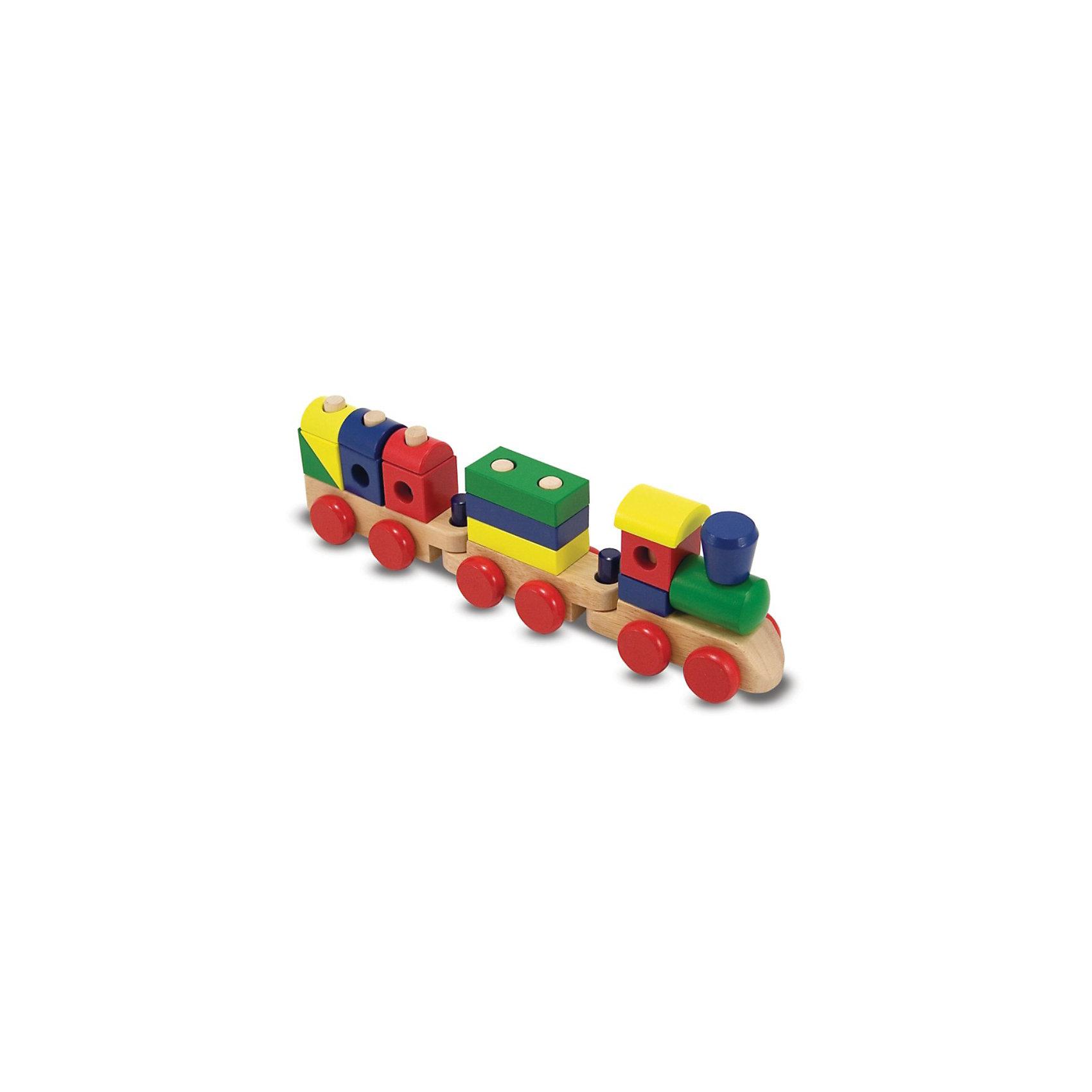Паровоз-конструктор, Melissa &amp; DougДеревянные конструкторы<br>Набор Melissa&amp;Doug Паровоз-конструктор  способствует развитию мелкой моторики рук,  творческого и пространственного мышления.<br><br>Паровоз состоит из пятнадцати красочных частей, надевающихся на прочные колья, за счет чего он может быть переконфигурирован снова и снова. Более семнадцати см длиной, когда все части скреплены! <br><br>Дополнительная информация:<br><br>- Материал: дерево.<br>- Размер в собранном виде: 46х14х9 см <br>- Возраст: от 2 лет<br><br>Игрушка непременно понравится вашему ребенку.<br><br>Ширина мм: 90<br>Глубина мм: 140<br>Высота мм: 450<br>Вес г: 1230<br>Возраст от месяцев: 24<br>Возраст до месяцев: 60<br>Пол: Унисекс<br>Возраст: Детский<br>SKU: 2401089
