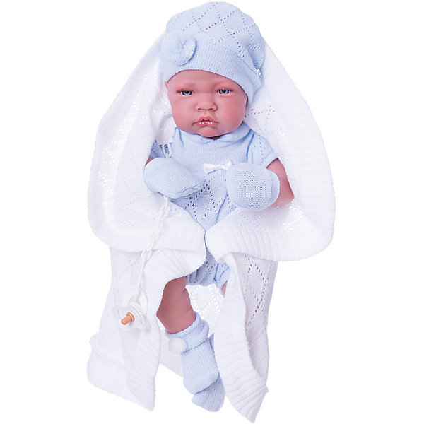 Купить Кукла-младенец Тони (мальчик) в голубом, 42 cм, Juan Antonio, Munecas Antonio Juan, Испания, Женский