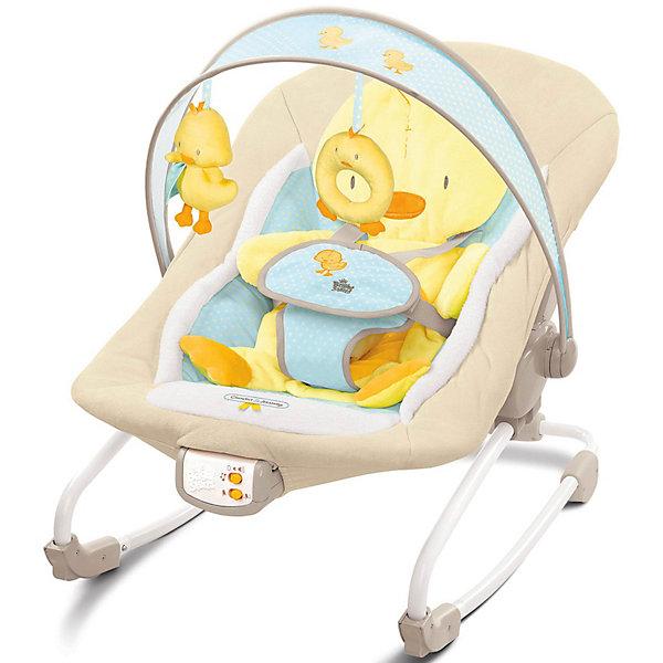 Кресло-качалка Утёнок Bright StartsДетские качели для дома<br>Кресло-качалка от Bright Stars с мягкой съёмной подушкой для сидения в виде утёнка, которая нежно поддерживает спинку ребёнка.<br><br>Особенности:<br>- объемная подушка поддерживает спинку ребенка<br>- трехпозиционное сиденье с технологией Comfort Recline<br>- может фиксироваться в устойчивом положении<br>- успокаивающая вибрация, 7 мелодий, регулировка громкости и автоматическое отключение<br>- съемная перекладина для игрушек может поворачиваться для быстрого доступа к ребенку<br><br>Дополнительная информация:<br><br>- легко складывается для хранения и путешествий<br>- 5-точечный ремень безопасности<br>- возможность машинной стирки сиденья<br>- размеры товара:  45 х 70 х 60 см<br>- размеры коробки: 61 х 13 х 39 см<br><br>Кресло рассчитано на вес ребенка до 11 кг.<br><br>Кресло-качалка Утёнок Bright Starts (Брайт Стартс) можно купить в нашем интернет-магазине.<br>Ширина мм: 610; Глубина мм: 390; Высота мм: 130; Вес г: 4657; Возраст от месяцев: 3; Возраст до месяцев: 12; Пол: Унисекс; Возраст: Детский; SKU: 2403293;