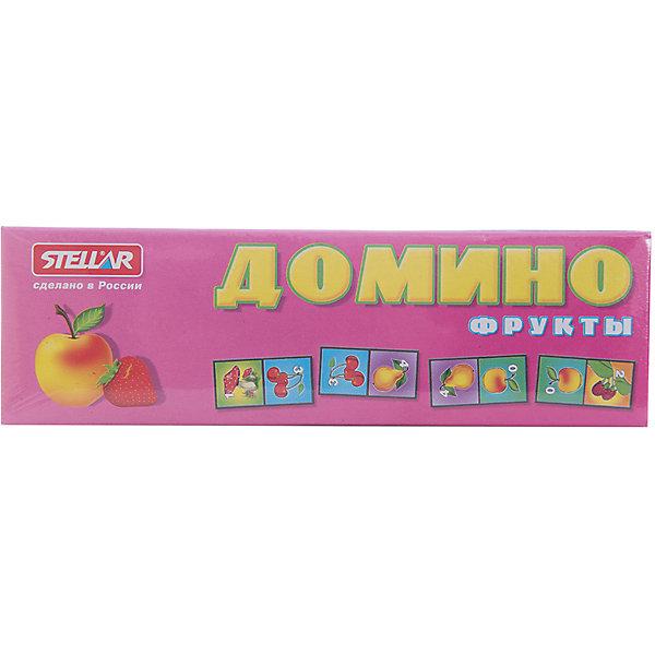 Домино 1 Фрукты, СтелларДомино<br>Домино 1 Фрукты от Стеллар (Stellar) — детский аналог традиционной игры Домино. Игра включает комплект пластиковых костяшек домино с изображением ягод и фруктов (клубника, вишня, виноград, яблоко, груша, малина, банан) и цифр от 0 до 6.<br><br>При игре в Домино развивается логическое мышление и ассоциативная память, тренируется внимание и сосредоточенность, совершенствуется умение оценивать ситуацию, умение классифицировать предметы, сравнивать и находить соответствия.<br><br>Домино «Фрукты» - прекрасный вариант для проведения семейного досуга!<br><br>Дополнительная информация:<br><br>- В комплекте: 28 фишек<br>- Материал: полистирол, бумага<br>- Размер упаковки: 180 х 20 х 55 мм<br>- Вес: 77 г.<br><br>Домино 1 Фрукты от Стеллар (Stellar) можно купить в нашем интернет-магазине.<br>Ширина мм: 180; Глубина мм: 20; Высота мм: 55; Вес г: 77; Возраст от месяцев: 36; Возраст до месяцев: 1188; Пол: Унисекс; Возраст: Детский; SKU: 2407029;