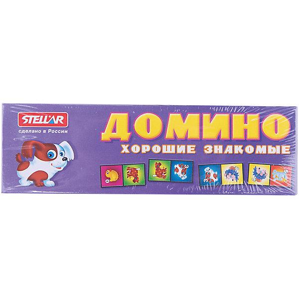 Домино Забавные животные, СтелларДомино<br>Домино 5 Забавные животные, Стеллар (Stellar) — детский аналог традиционной игры Домино. Игра включает комплект пластиковых костяшек домино с изображением домашних животных и цифр от 0 до 6.<br><br>Игра в Домино развивает логическое мышление и ассоциативную память, тренирует внимание и сосредоточенность, совершенствует умение оценивать ситуацию, умение классифицировать предметы, сравнивать и находить соответствия.<br><br>Домино «Забавные животные» - прекрасный вариант для проведения семейного досуга!<br><br>Дополнительная информация:<br><br>- В комплекте: 28 фишек<br>- Материал: пластмасса, бумага<br>- Размер упаковки: 180 х 20 х 55 мм<br>- Вес: 80 г.<br><br>Домино 5 Забавные животные, Стеллар (Stellar) можно купить в нашем интернет-магазине.<br><br>Ширина мм: 180<br>Глубина мм: 20<br>Высота мм: 55<br>Вес г: 77<br>Возраст от месяцев: 36<br>Возраст до месяцев: 1188<br>Пол: Унисекс<br>Возраст: Детский<br>SKU: 2407033