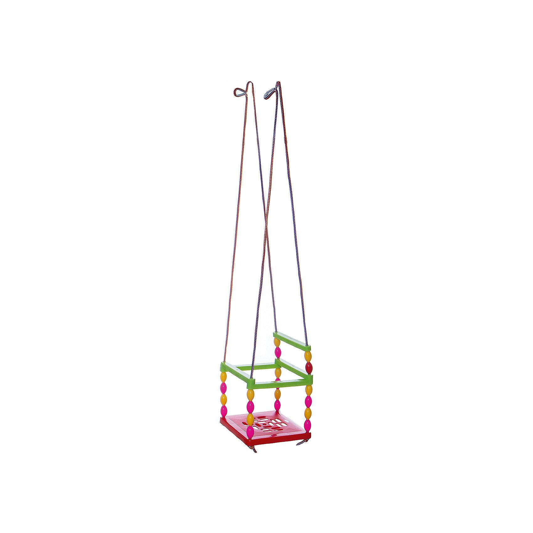 Стеллар Стеллар Качели пластмассовые (со спинкой) стеллар погремушка дудочка стеллар