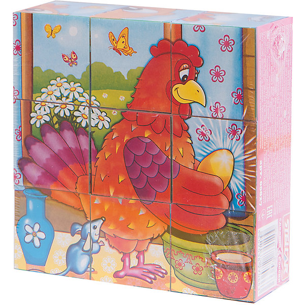 Кубики в картинках 27 (персонажи сказок), СтелларКубики<br>Набор из 9 кубиков на тему Персонажи сказок от Стеллар (Stellar) — увлекательная игра для Вашего ребенка. На каждую грань кубиков наклеены бумажные красочные картинки. Из изображений на кубиках, можно собрать шесть больших сказочных картинок: <br>- Баба Яга<br>- Колобок<br>- Кот в Сапогах<br>- Маугли<br>- Снеговик<br>- Курочка Ряба.<br><br>Игра с такими кубиками позволить тренировать память, внимание и мелкую моторику рук.<br><br>Набор кубиков «Персонажи сказок» надолго увлечет Вашего ребенка!<br><br>Дополнительная информация:<br><br>- В комплекте: 9 кубиков<br>- Материал: полистирол, бумага<br>- Размер кубика: 40 х 40 х 40 мм<br>- Собираемой картинки: 120 х 120 мм<br>- Размер упаковки: 120 х 120 х 40 мм<br>- Вес: 150 г.<br><br>Кубики в картинках 27 (персонажи сказок) от Стеллар (Stellar) можно купить в нашем интернет-магазине.<br>Ширина мм: 120; Глубина мм: 120; Высота мм: 40; Вес г: 147; Возраст от месяцев: 36; Возраст до месяцев: 60; Пол: Унисекс; Возраст: Детский; SKU: 2407045;