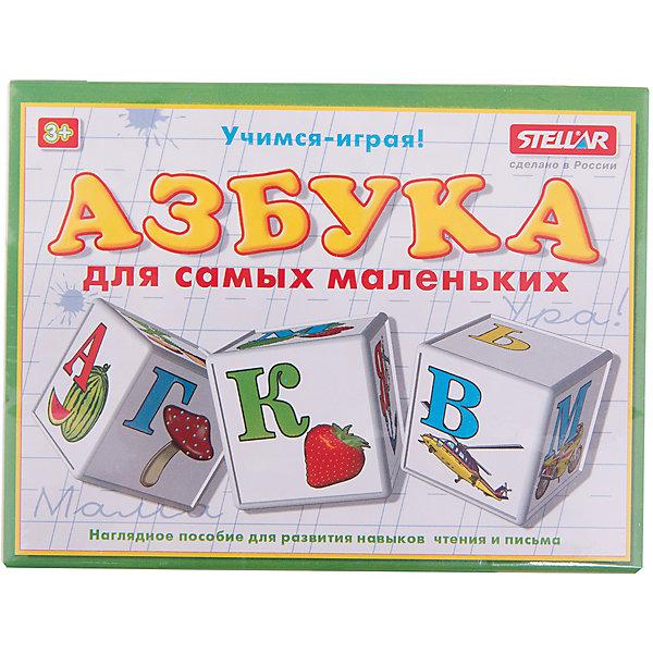 Кубики Азбука для маленьких, СтелларКасса букв<br>Кубики Азбука для маленьких от Стеллар (Stellar). <br><br>В наборе - 12 кубиков с картинками. На гранях кубиков - буквы русского алфавита и предметы или объекты, название которых начинается с этих букв. Из кубиков можно составлять слова. <br>Кубики Азбука для маленьких в игровой форме знакомят вашего ребенка с буквами. <br>Благодаря этим кубикам развивается мелкая моторика рук, память и цветовое восприятие.<br><br>Кубики Азбука для маленьких от Стеллар — прекрасная обучающая и развивающая игра для детей дошкольного возраста!<br><br>Дополнительная информация:<br><br>- В комплекте: 12 кубиков с буквами и рисунками<br>- Материал: Полистирол <br>- Размер кубика: 40 х 40 х 40 мм<br>- Размер упаковки: 160 х 120 х 40 мм<br>- Вес: 206 г.<br><br>Кубики Азбука для маленьких от Стеллар (Stellar) можно купить в нашем интернет-магазине.<br>Ширина мм: 160; Глубина мм: 120; Высота мм: 40; Вес г: 206; Возраст от месяцев: 36; Возраст до месяцев: 1188; Пол: Унисекс; Возраст: Детский; SKU: 2407058;