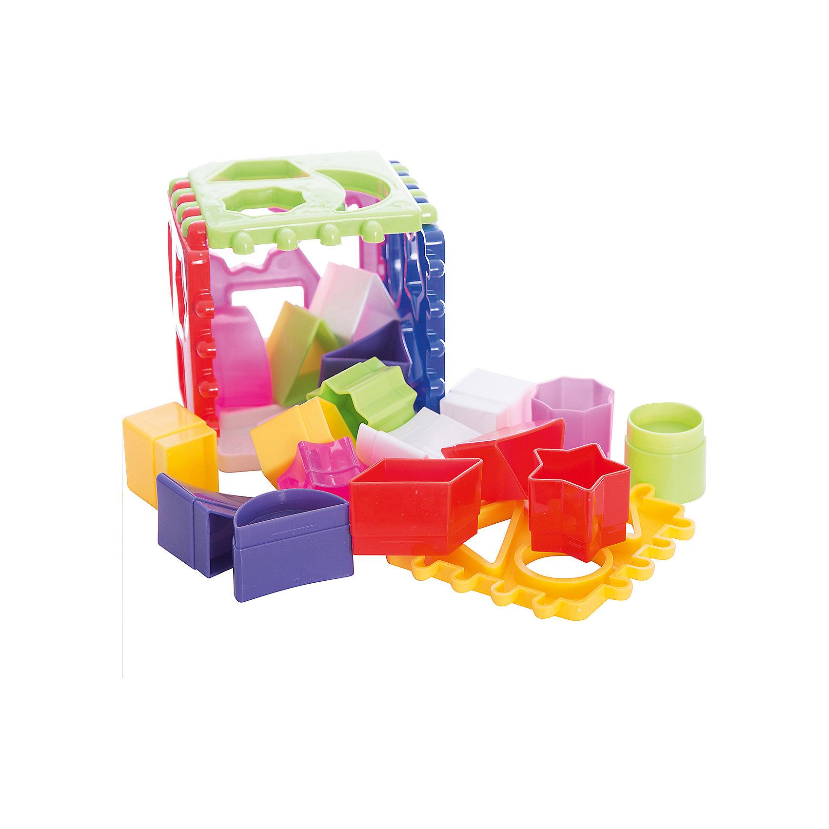 Логический куб, СтелларСортеры<br>Развивающая игра Логический куб от Стеллар (Stellar)  - сортировщик с множеством разноцветных фигурок. Смысл игры – подобрать и вставить фигурки в подходящие отверстия в гранях кубика. Набор состоит из шести пластин из которых можно собрать кубик или другие фигуры, например, призму. В комплект входят 18 фигурок, отличающихся друг от друга цветом, формой, размером, толщиной. <br><br>Играя с логическим кубиком-сортером ребенок развивает моторику, логику и координацию движений.<br><br>Развивающая игра Логический куб не оставит равнодушным ни одного малыша!<br><br>Дополнительная информация:<br><br>- В комплекте: 6 пластинок-сортеров, 18 фигурок<br>- Материал: полипропилен<br>- Размер игрушки: 115 х 115 х 115 мм<br>- Размер упаковки: 120 х 120 х 120 мм<br>- Вес: 280 г.<br><br>Логический куб подарочный от Стеллар (Stellar) можно купить в нашем интернет-магазине.<br><br>Ширина мм: 120<br>Глубина мм: 120<br>Высота мм: 120<br>Вес г: 280<br>Возраст от месяцев: 12<br>Возраст до месяцев: 36<br>Пол: Унисекс<br>Возраст: Детский<br>SKU: 2407064