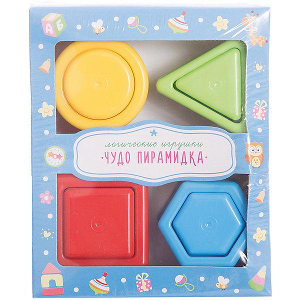 Стеллар Чудо-пирамидкаРазвивающие игрушки<br>Чудо-пирамидка познакомит ребенка с понятием цвета и геометрических фигур. <br><br>Пирамидка состоит из подставки с четырьмя пирамидками, состоящими из разных геометрических фигур: квадрата, шестиугольника, треугольника и круга. С помощью этих ярких пирамидок малыш научится определять форму и цвета, сравнивать предметы по величине и раскладывать их в определенном порядке. Игрушка направлена на развитие у ребенка координации движений, моторики рук, пространственного и логического мышления, внимания, памяти, а также подготавливает руку к письму.<br><br>Дополнительная информация:<br><br>- Материал: пластмасса<br>- Размер: 6,5 х 12 х 14 см<br>Ширина мм: 140; Глубина мм: 120; Высота мм: 65; Вес г: 128; Возраст от месяцев: 12; Возраст до месяцев: 36; Пол: Унисекс; Возраст: Детский; SKU: 2407066;