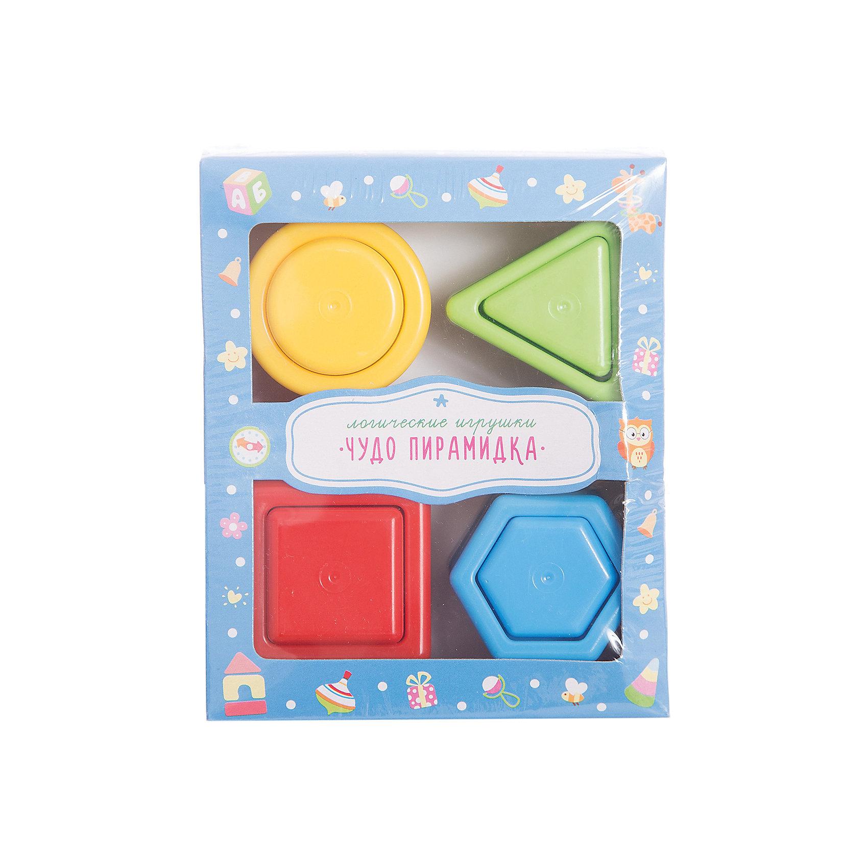 Стеллар Чудо-пирамидкаЧудо-пирамидка познакомит ребенка с понятием цвета и геометрических фигур. <br><br>Пирамидка состоит из подставки с четырьмя пирамидками, состоящими из разных геометрических фигур: квадрата, шестиугольника, треугольника и круга. С помощью этих ярких пирамидок малыш научится определять форму и цвета, сравнивать предметы по величине и раскладывать их в определенном порядке. Игрушка направлена на развитие у ребенка координации движений, моторики рук, пространственного и логического мышления, внимания, памяти, а также подготавливает руку к письму.<br><br>Дополнительная информация:<br><br>- Материал: пластмасса<br>- Размер: 6,5 х 12 х 14 см<br><br>Ширина мм: 140<br>Глубина мм: 120<br>Высота мм: 65<br>Вес г: 128<br>Возраст от месяцев: 12<br>Возраст до месяцев: 36<br>Пол: Унисекс<br>Возраст: Детский<br>SKU: 2407066
