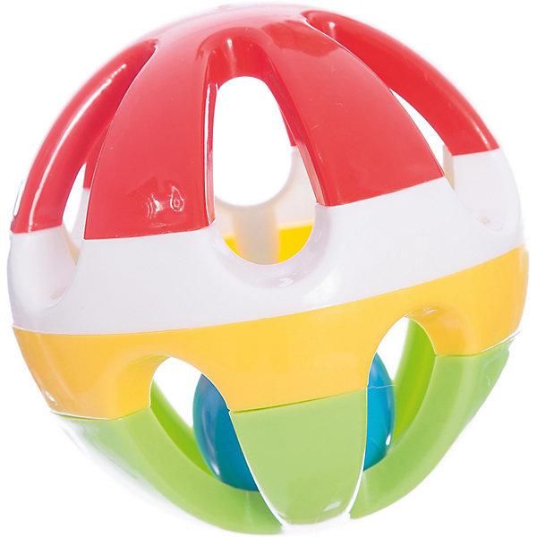 Стеллар Погремушка ШарИгрушки для новорожденных<br>Диаметр большого шарика 10 см, внутри – маленький (примерно 4 см) пластмассовый тарахтящий шарик (вынуть его нельзя). Получается два вида звуков: легкое тарахтение внутри маленького шарика и звук удара шарика о стенки большого шара. Большой шар сборный, но крепкий (детали соединены с помощью винтов). Производит впечатление крепкой, добротной погремушки. Возраст: 0-1.5 года<br>Ширина мм: 100; Глубина мм: 100; Высота мм: 100; Вес г: 82; Возраст от месяцев: 0; Возраст до месяцев: 36; Пол: Унисекс; Возраст: Детский; SKU: 2407102;