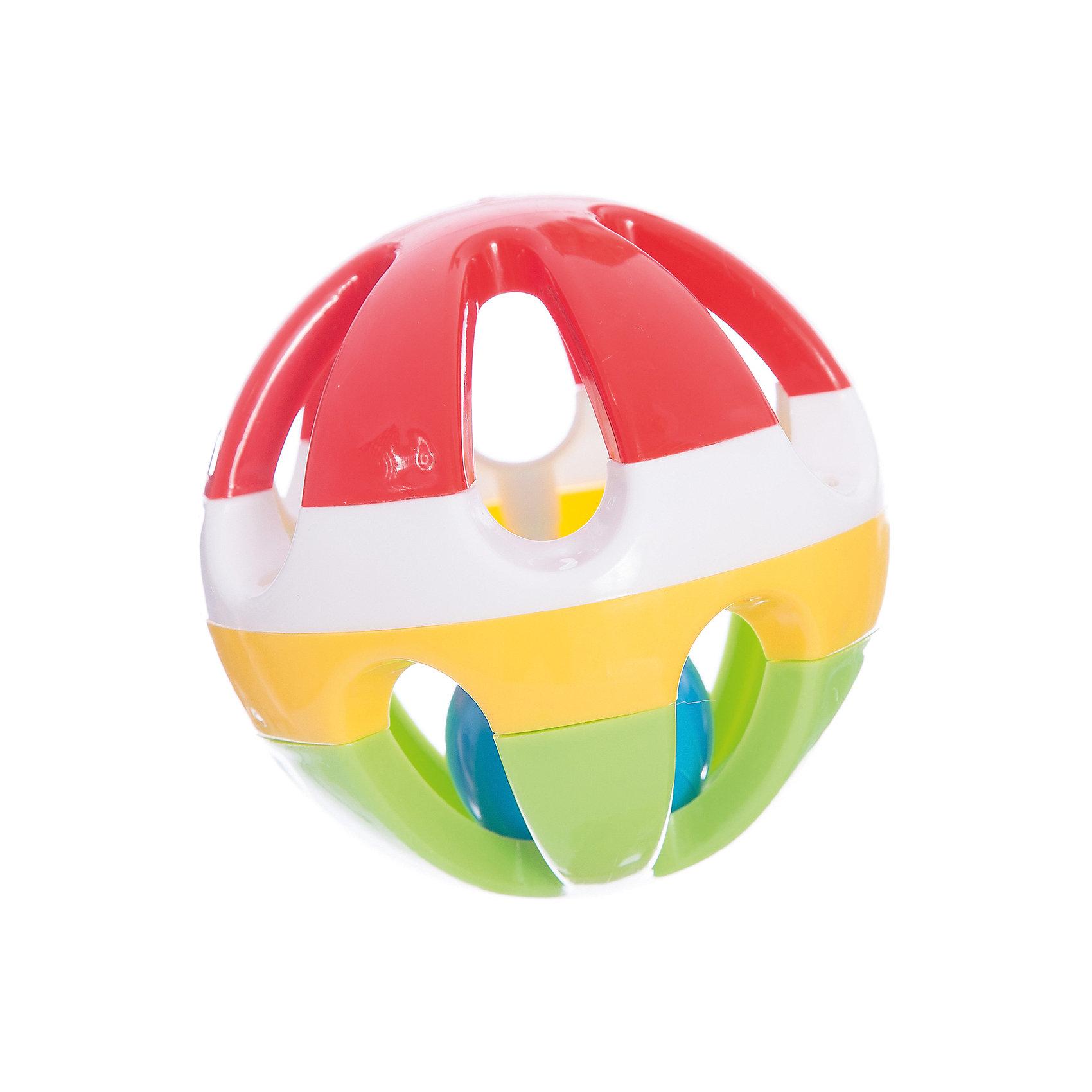 Стеллар Погремушка ШарИгрушки для малышей<br>Диаметр большого шарика 10 см, внутри – маленький (примерно 4 см) пластмассовый тарахтящий шарик (вынуть его нельзя). Получается два вида звуков: легкое тарахтение внутри маленького шарика и звук удара шарика о стенки большого шара. Большой шар сборный, но крепкий (детали соединены с помощью винтов). Производит впечатление крепкой, добротной погремушки. Возраст: 0-1.5 года<br><br>Ширина мм: 100<br>Глубина мм: 100<br>Высота мм: 100<br>Вес г: 82<br>Возраст от месяцев: 0<br>Возраст до месяцев: 36<br>Пол: Унисекс<br>Возраст: Детский<br>SKU: 2407102