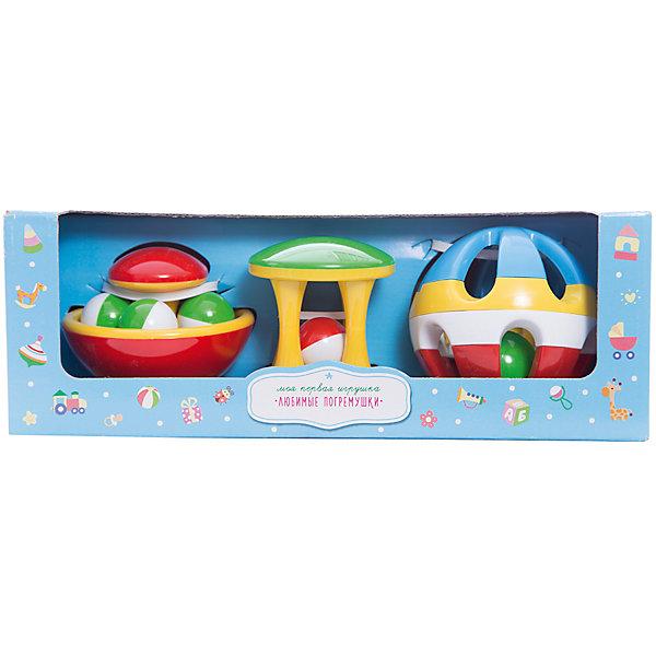 Стеллар Подарочный набор ПогремушкиИгрушки для новорожденных<br>Подарочный набор Погремушки от Стеллар (Stellar).<br><br>Подарочный набор из трех погремушек - шара, гриба-неваляшки и карусели. В картонной коробке.<br><br>Игра с погремушкой способствует развитию концентрации внимания, зрительного и слухового восприятия, а также координации движений.<br><br>Погремушки от Стеллар станут прекрасным подарком для самых маленьких детей!<br><br>Дополнительная информация:<br><br>- В комплекте: 3 погремушки<br>- Материал: полипропилен <br>- Размер упаковки: 310 х 110 х 110 мм<br>- Вес: 290 г.<br><br>Подарочный набор Погремушки от Стеллар (Stellar) можно купить в нашем интернет-магазине.<br>Ширина мм: 310; Глубина мм: 110; Высота мм: 110; Вес г: 290; Возраст от месяцев: 0; Возраст до месяцев: 24; Пол: Унисекс; Возраст: Детский; SKU: 2407104;