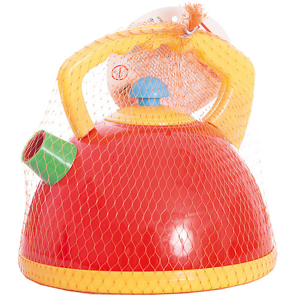 Стеллар Посуда  детская ЧайникИгрушечная бытовая техника<br>Большой прочный чайник с крышкой. Крышка снимается. Ширина 16 см.<br>Ширина мм: 140; Глубина мм: 140; Высота мм: 140; Вес г: 103; Возраст от месяцев: 36; Возраст до месяцев: 1188; Пол: Женский; Возраст: Детский; SKU: 2407108;