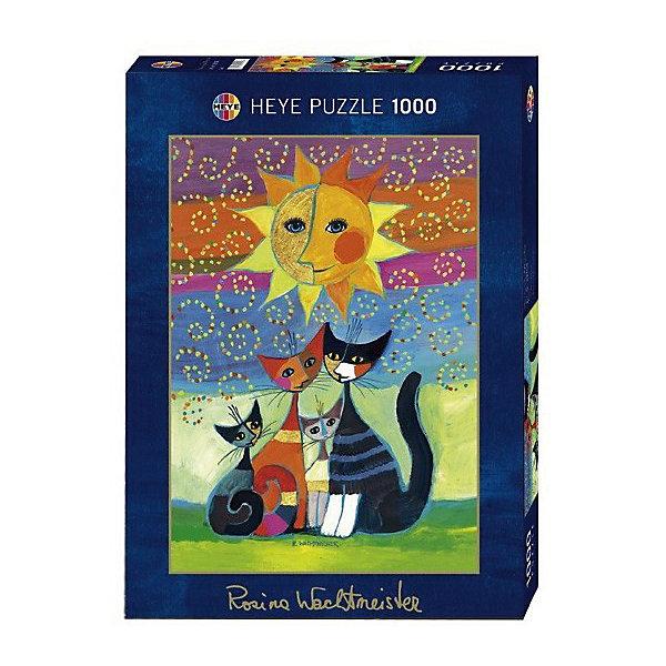 Пазл Солнце, Wachtmeister, 1000 деталей, HEYEПазлы классические<br>Рисованные пазлы с золотистым и серебристым теснением. Семья кошек. <br><br>Дополнительная информация:<br><br>- Кол-во деталей: 1000<br>- Размер собранной картинки: 50 x 70 см<br>Ширина мм: 371; Глубина мм: 271; Высота мм: 55; Вес г: 840; Возраст от месяцев: 168; Возраст до месяцев: 1188; Пол: Унисекс; Возраст: Детский; Количество деталей: 1000; SKU: 2409633;