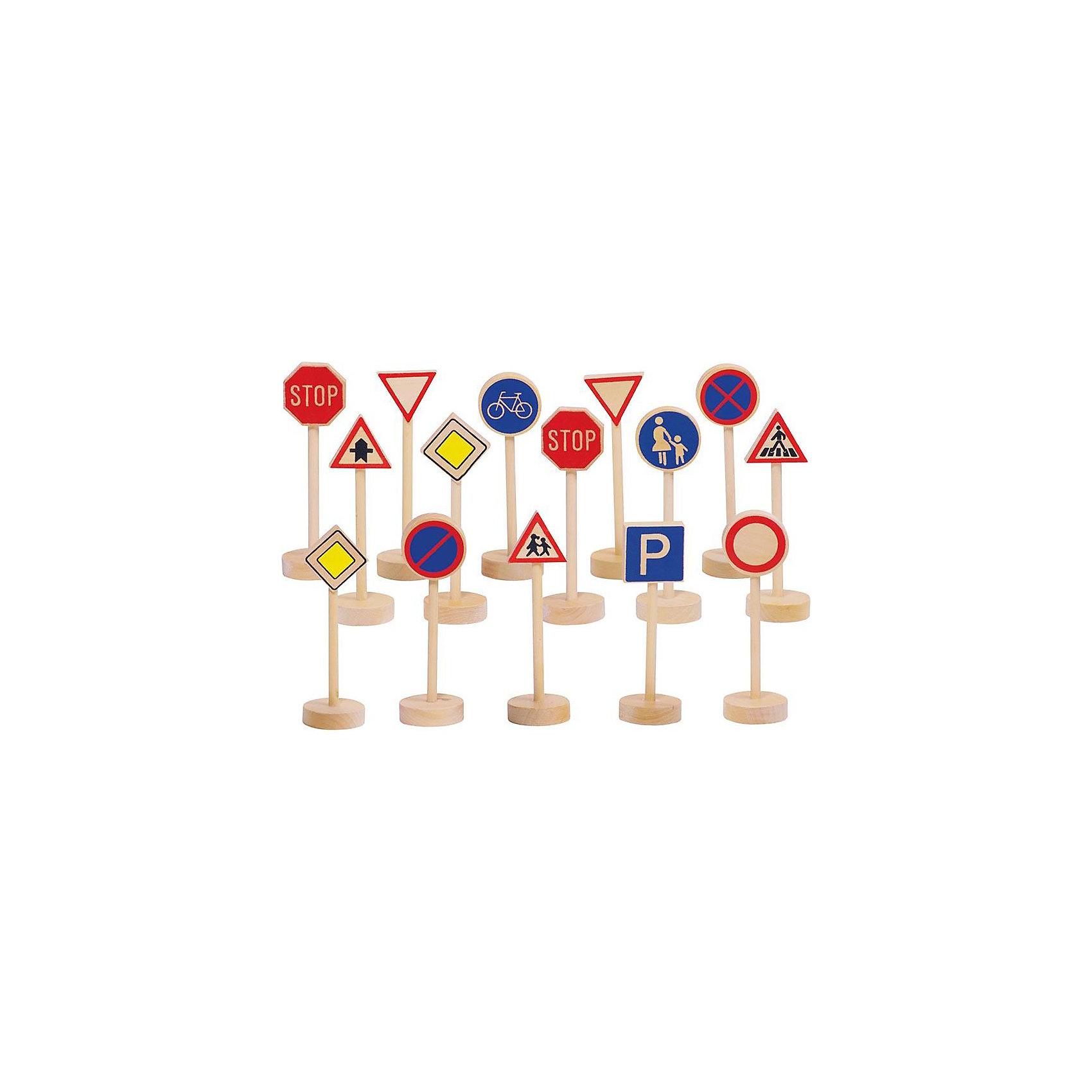 деревянные игрушки бэмби набор дорожные знаки 7777 goki GOLLNEST & KIESEL Дорожные знаки TOYS PURE