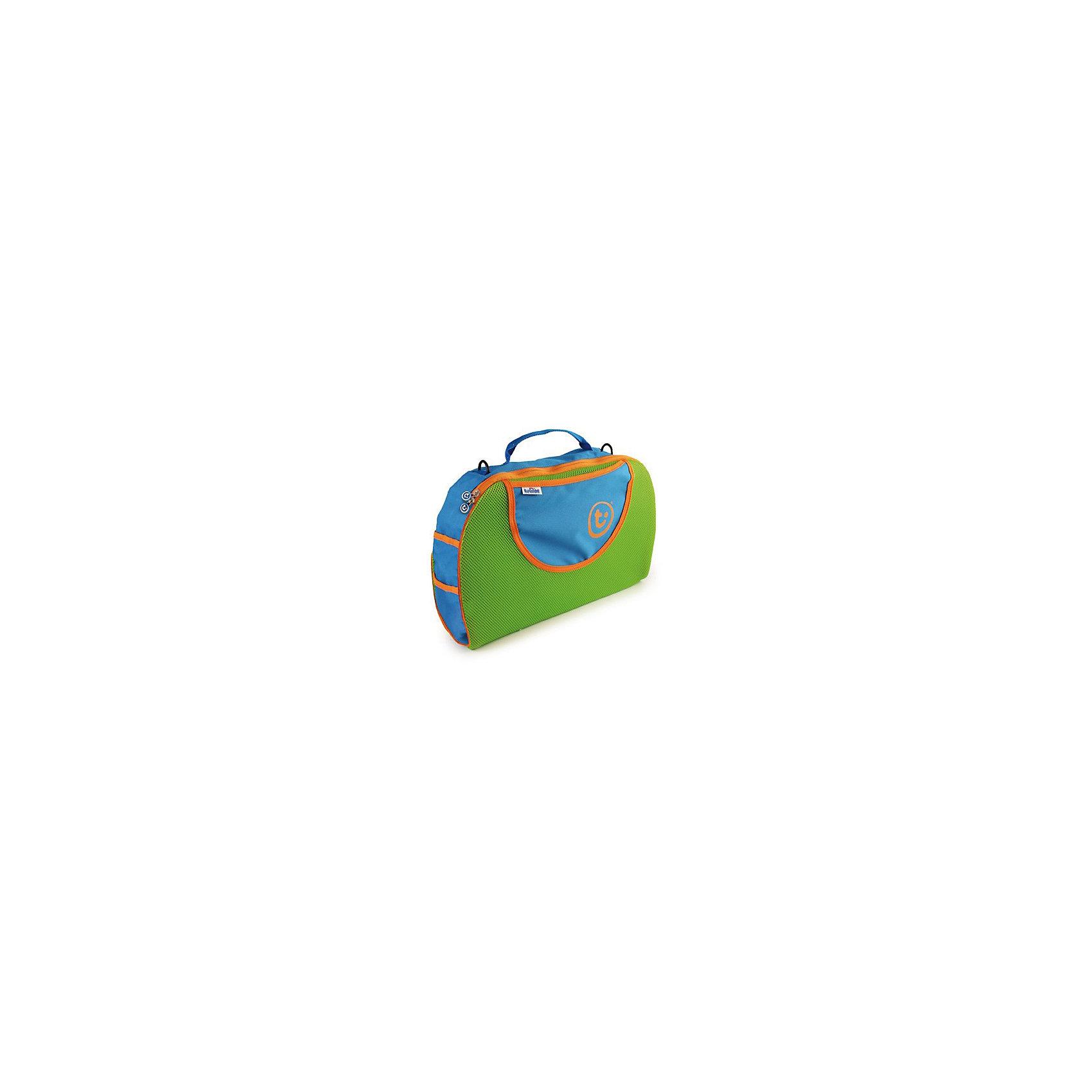 Голубая сумка для чемоданаИгрушки Вашего ребенка и все его вещи отлично помещаются в удобной дорожной сумке голубого цвета: самое дорогое и необходимое всегда под рукой! Аксессуар можно закрепить на спинке переднего сидения в машине или  самолете, кроме того, сумка прекрасно помещается в чемодан  trunki (Транки). В комплекте есть съемный ремень, который можно использовать в качестве длинной ручки через плечо.<br><br>Дополнительная информация:<br><br>- Материал: текстиль.<br>- Размеры: 44х31 см. <br>- Вместительность: 15 л.<br>- Цвет: голубой, зеленый.<br>- Вес: 0,15 кг.  <br><br>Голубую сумку для чемодана можно купить в нашем магазине.<br><br>Ширина мм: 407<br>Глубина мм: 317<br>Высота мм: 76<br>Вес г: 227<br>Возраст от месяцев: 36<br>Возраст до месяцев: 72<br>Пол: Мужской<br>Возраст: Детский<br>SKU: 2412573
