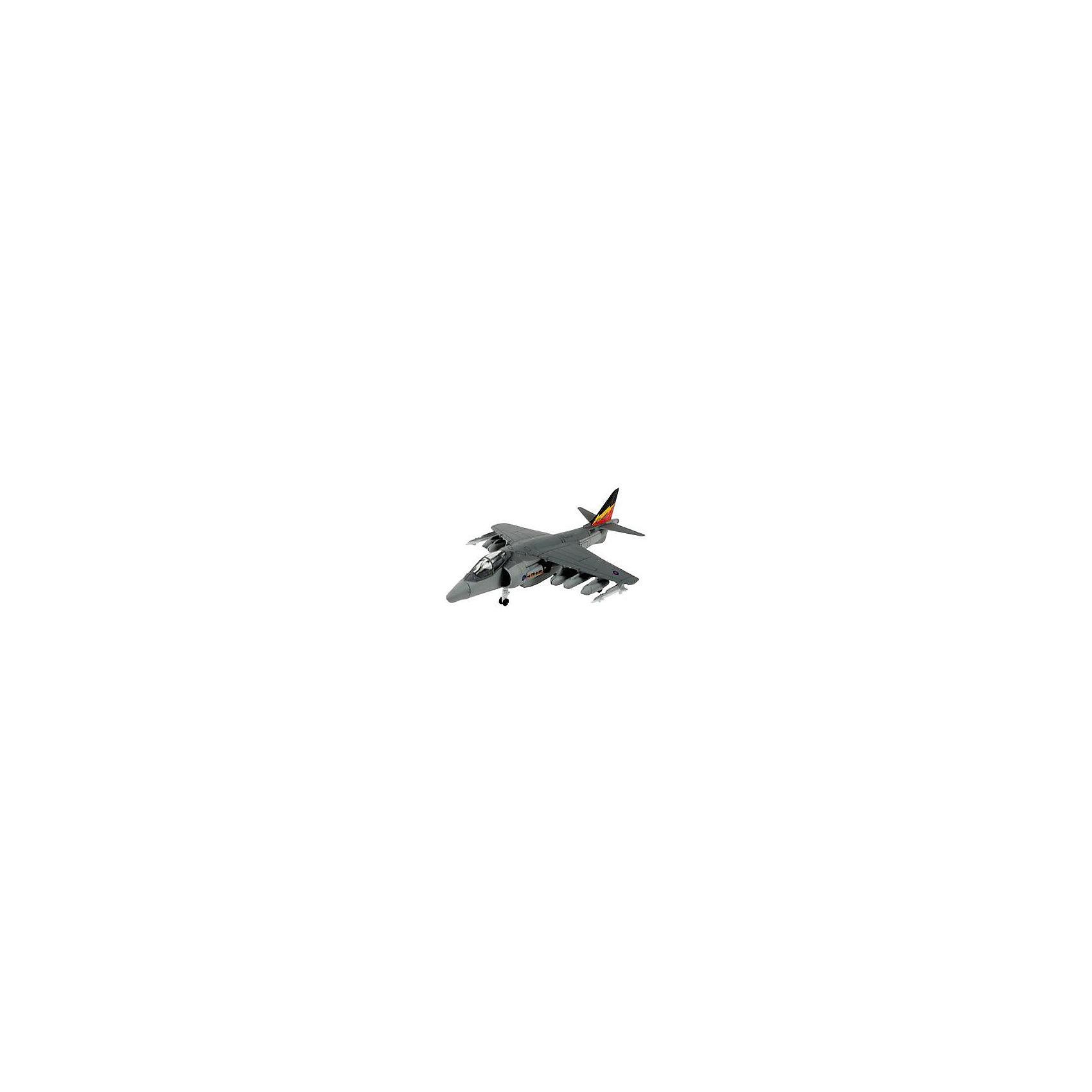 Сборка Самолет Штурмовик Hawker Harrier, британскийМодели для склеивания<br>Сборная модель американского самолета BAe Harrier Gr.9.  Модель представляет собой набор уже окрашенных деталей. Для сборки вам не понадобится и клей. Все детали соединяются посредством специальных зажимов.  Такая модель идеально подойдет для первого знакомства со стендовым моделизмом. <br>BAe Harrier Gr.9 до сих пор является самым массовым самолетом с вертикальным взлетом.  В течение следующих нескольких лет он будет поставляться в части ВМС США и ряд армий стран НАТО.  <br>Длина модели: 140 мм <br>Размах крыльев:  93 мм <br>Количество деталей:  35 <br>Рекомендуется для детей от 6 лет<br><br>Ширина мм: 243<br>Глубина мм: 158<br>Высота мм: 40<br>Вес г: 150<br>Возраст от месяцев: 96<br>Возраст до месяцев: 1188<br>Пол: Мужской<br>Возраст: Детский<br>SKU: 2412660