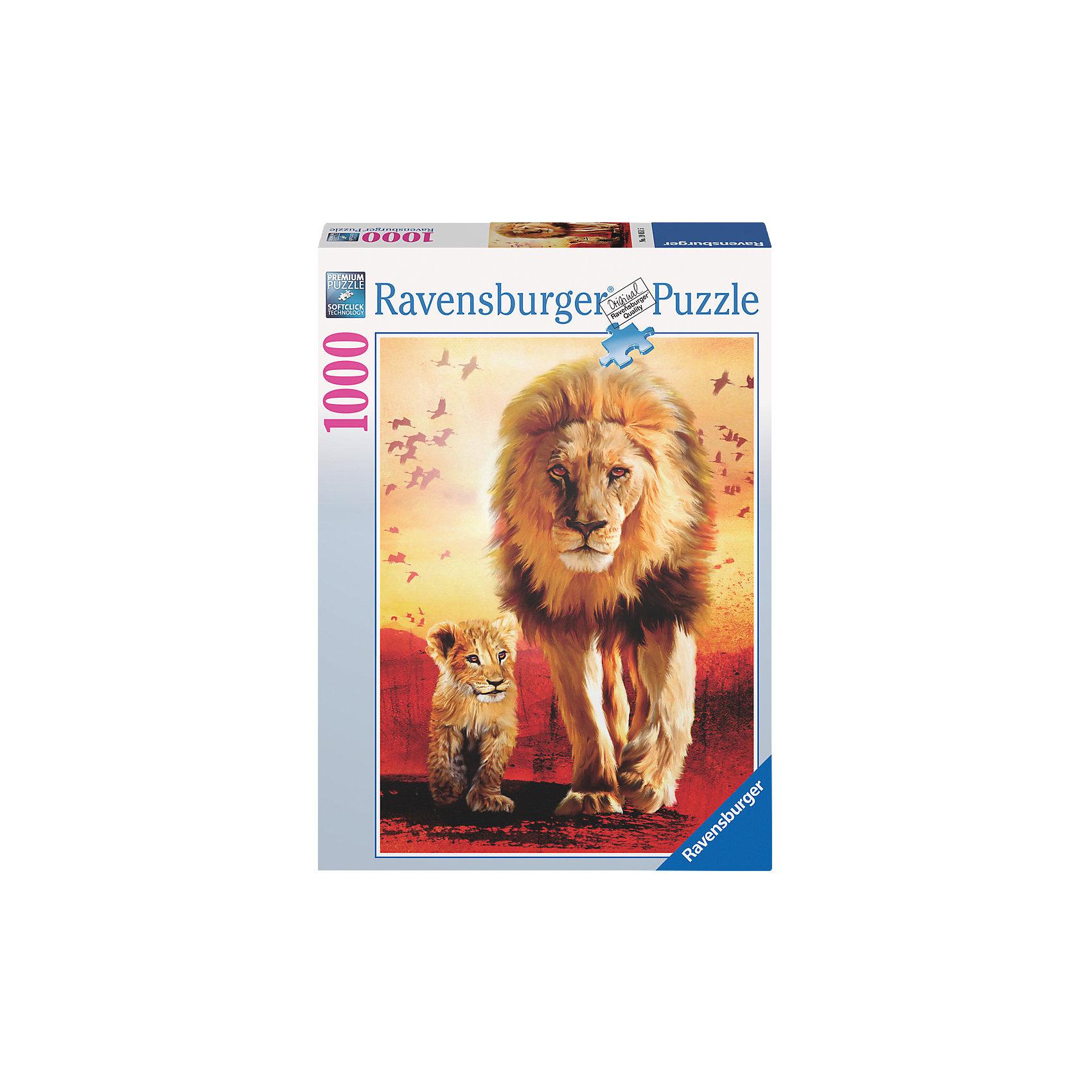 Пазл «Первые шаги» 1000  деталей, RavensburgerСоединив элементы Пазла «Первые шаги» 1000  деталей, Ravensburger (Равенсбургер), Вы получите красивую картинку с изображением львов. Маленький львенок вместе с отцом делает свои первые шаги по африканской саванне, светит жаркое солнце, земля раскалена докрасна, а на заднем плане кружат птицы. Эту прекрасную картину можно проклеить, повесить в раму и украсить ею любой интерьер.  <br><br>Характеристики:<br>-Элементы идеально соединяются друг с другом, не отслаиваются с течением времени<br>-Высочайшее качество картона и полиграфии <br>-Матовая поверхность исключает отблески<br>-Развивает: память, мышление, усидчивость, мелкая моторика, наблюдательность, воображение, общий уровень интеллекта, цветовосприятие<br>-Каждая деталь отличается по форме, что упростит сборку <br>-Занимательное времяпрепровождение для всей семьи<br>-Для сохранения в собранном виде можно использовать скотч или специальный клей для пазлов (в комплект не входит)<br><br>Дополнительная информация:<br>-Материалы: картон<br>-Вес в упаковке: 900 г<br>-Размеры в упаковке: 27х37х5,5 см<br>-Размер картинки: 50х70 см<br>-Количество элементов: 1000 шт.<br><br>Чтобы собрать пазл «Первые шаги» понадобится несколько вечеров, но увлекательное занятие без сомнения понравится как детям, так и взрослым ценителям этого хобби!<br><br>Пазл «Первые шаги» 1000  деталей, Ravensburger (Равенсбургер) можно купить в нашем магазине.<br><br>Ширина мм: 377<br>Глубина мм: 276<br>Высота мм: 59<br>Вес г: 849<br>Возраст от месяцев: 144<br>Возраст до месяцев: 228<br>Пол: Унисекс<br>Возраст: Детский<br>Количество деталей: 1000<br>SKU: 2414785