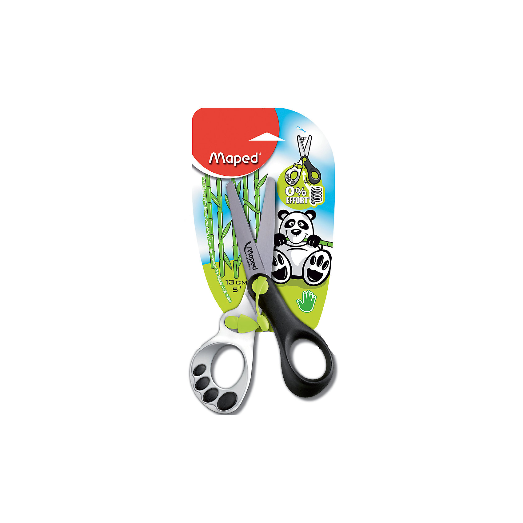 Ножницы KOOPY, 13 смНожницы KOOPY, 13 см от марки Maped<br><br>Эти ножницы созданы специально для малышей. Ими очень легко вырезать. Ручки - из безопасного пластика, эргономичные, удобные.<br>Конструкция разработана для детской руки. Лезвия - закругленные, безопасные. Одна из ручек украшена забавной лапой панды.<br><br>Особенности данной модели:<br><br>закругленные лезвия;<br>цвет: разноцветные;<br>длина - 13 см.<br><br>Ножницы KOOPY, 13 см от марки Maped можно купить в нашем магазине.<br><br>Ширина мм: 15<br>Глубина мм: 76<br>Высота мм: 173<br>Вес г: 33<br>Возраст от месяцев: 72<br>Возраст до месяцев: 1188<br>Пол: Унисекс<br>Возраст: Детский<br>SKU: 2418860