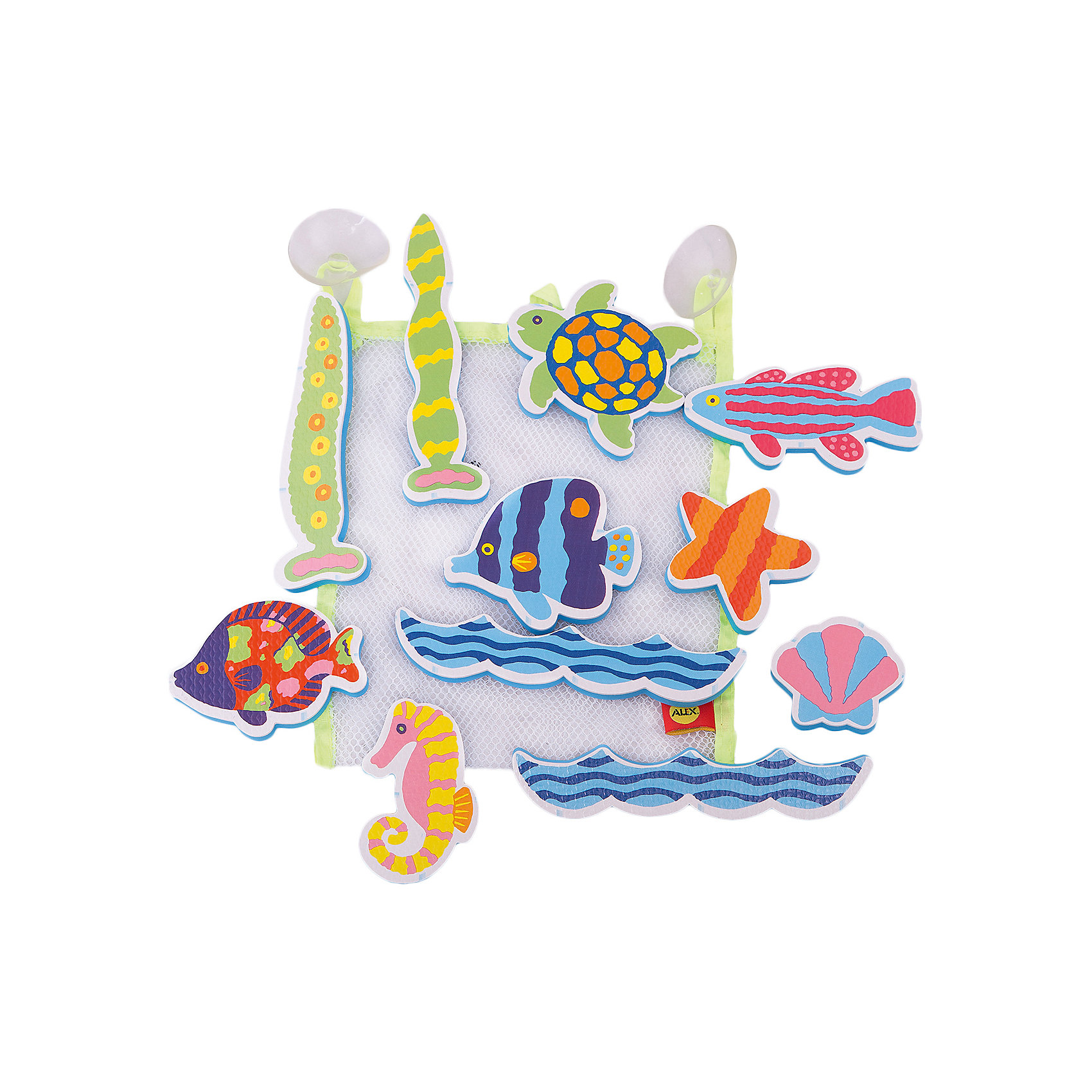 Набор стикеров для ванной Пляж, AlexИгровые наборы<br>Набор фигурок- стикеров для ванной Пляж. В наборе фигурки в виде морских обитателей. Фигурки сделаны из легкого и экологичного материала - вспененного пластика, который крепится к влажной стенке ванны и кафелю.  Упакованы в  сумку-сетку на присосках.<br><br>Ширина мм: 252<br>Глубина мм: 203<br>Высота мм: 53<br>Вес г: 121<br>Возраст от месяцев: 36<br>Возраст до месяцев: 60<br>Пол: Унисекс<br>Возраст: Детский<br>SKU: 2422314