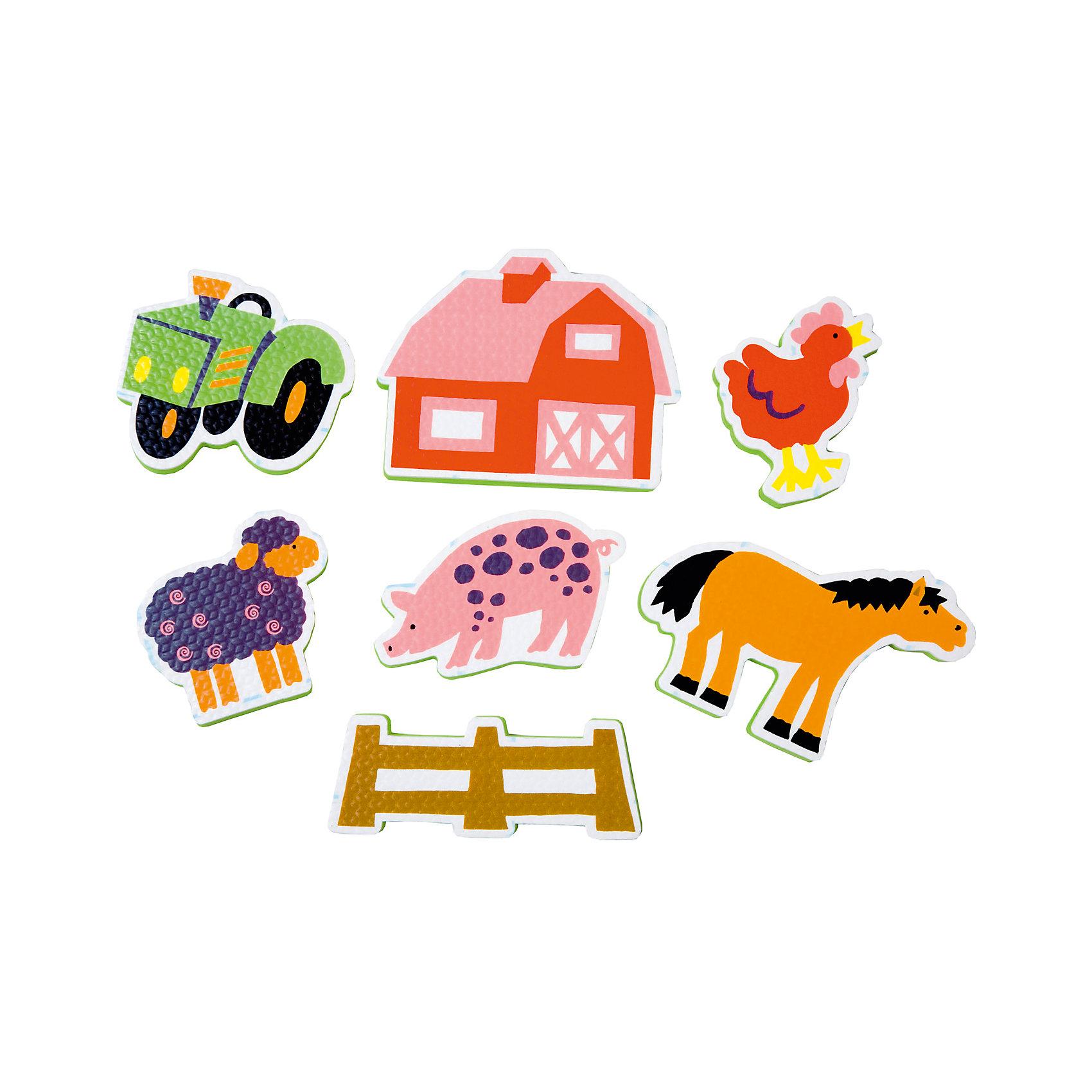 ALEX Набор фигурок-стикеров для ванны Ферма в сетке, ALEX alex игрушки для ванны 3 цветные лодочки