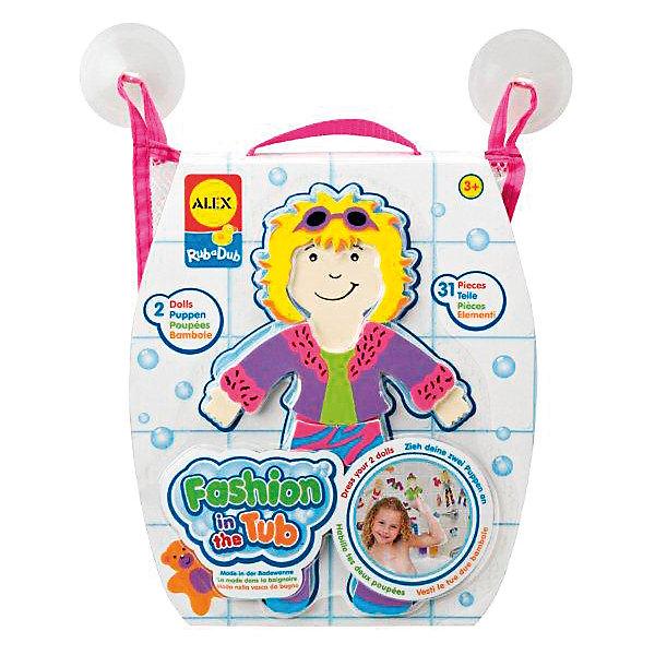 ALEX Набор фигурок для ванной Одень куклуИгрушки для ванной<br>Набор фигурок для ванны Одень куклу от ALEX (Алекс) замечательная игра для ванной. Фигурки легко приклеиваются к кафелю, если их смочить водой. Ребенок может играть и изменять все по своему усмотрению. В наборе: 2 куклы, одежда и аксессуары к ним. Ребенок может бесконечно играть и изменять все по своему усмотрению. Упакованы в удобную сетку-сумочку на присосках.<br>С фигурками для ванны малыш сможет не только с интересом провести время, но и развить логику, мелкую моторику, внимание. <br><br>Дополнительная информация:<br>- Материал: вспененная резина<br>- Размеры: 51х255х225 мм.<br>- Вес: 190 г.<br><br>Набор фигурок для ванны Одень куклу станет отличным подарком для Вашего ребенка.<br><br>ALEX Набор фигурок для ванны Одень куклу можно купить в нашем интернет-магазине.<br><br>Ширина мм: 255<br>Глубина мм: 225<br>Высота мм: 51<br>Вес г: 190<br>Возраст от месяцев: 36<br>Возраст до месяцев: 60<br>Пол: Унисекс<br>Возраст: Детский<br>SKU: 2422316