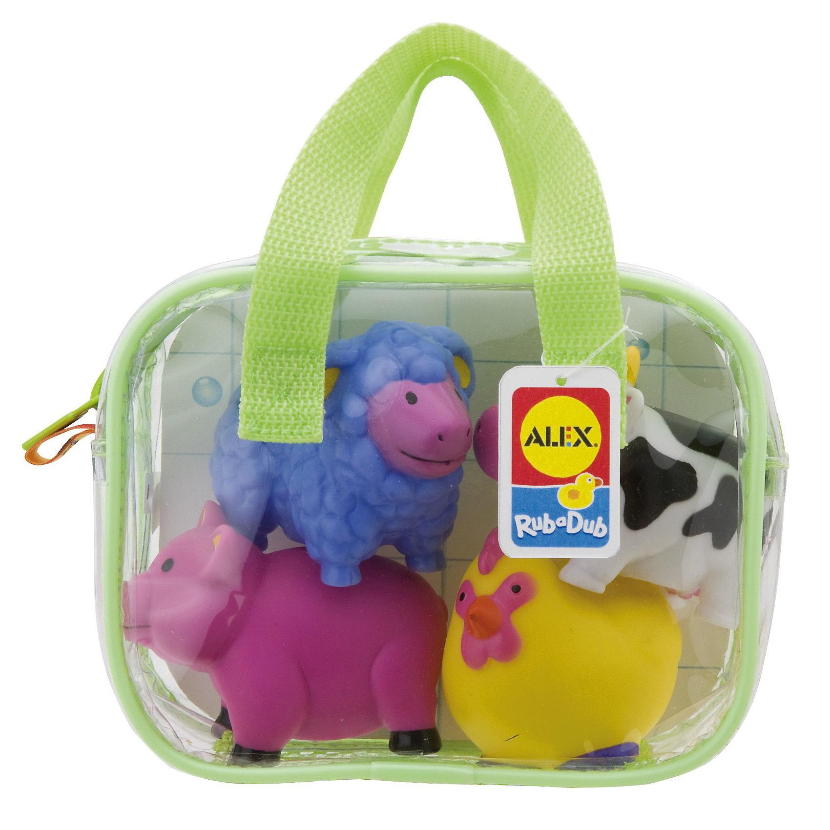 Игрушки для ванной ФермаИгрушки для ванны Ферма замечательная игра для ванной. <br>Яркие игрушки для ванной из набора Ферма станут отличным развлечением для вашего малыша!<br>В наборе 4 веселые разноцветные игрушки брызгалки-пищалки:  овечка, поросенок, коровка и цыпленок. Плавают в воде. Их удобно хранить в пластиковой сумке на молнии, с ручками.<br><br>Дополнительная информация:<br>- Материал: резина<br>- Размеры упаковки: 75х160х125 см<br>- Вес: 212 г.<br><br>Игрушка для ванной Ферма станет отличным подарком для Вашего ребенка.<br><br>Игрушку для ванной Ферма можно купить в нашем интернет-магазине.<br><br>Ширина мм: 172<br>Глубина мм: 131<br>Высота мм: 69<br>Вес г: 152<br>Возраст от месяцев: 12<br>Возраст до месяцев: 36<br>Пол: Унисекс<br>Возраст: Детский<br>SKU: 2422324