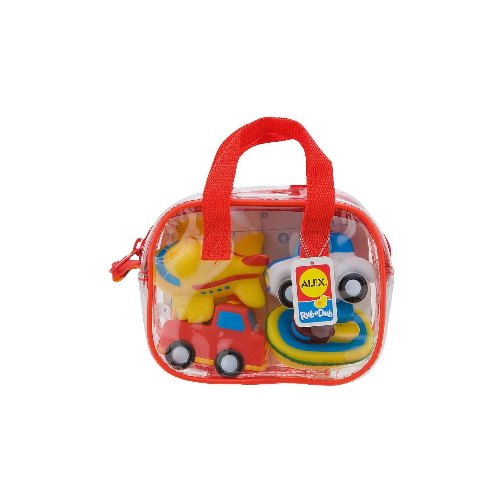 Игрушки для ванной ТранспортИгрушки для ванны Транспорт замечательная игра для ванной. <br>Яркие игрушки для ванной из набора Транспорт станут отличным развлечением для вашего малыша!<br>В наборе 4 веселые разноцветные игрушки брызгалки: самолетик, пароход, пожарная машинка, полицейская машинка. Плавают в воде. Их удобно хранить в пластиковой сумке на молнии, с ручками.<br><br>Дополнительная информация:<br>- Материал: резина<br>- Размеры упаковки: 70х160х125 см<br>- Вес: 223 г.<br><br>Игрушка для ванной Транспорт станет отличным подарком для Вашего ребенка.<br><br>Игрушку для ванной Транспорт можно купить в нашем интернет-магазине.<br><br>Ширина мм: 181<br>Глубина мм: 137<br>Высота мм: 71<br>Вес г: 166<br>Возраст от месяцев: 12<br>Возраст до месяцев: 36<br>Пол: Унисекс<br>Возраст: Детский<br>SKU: 2422325