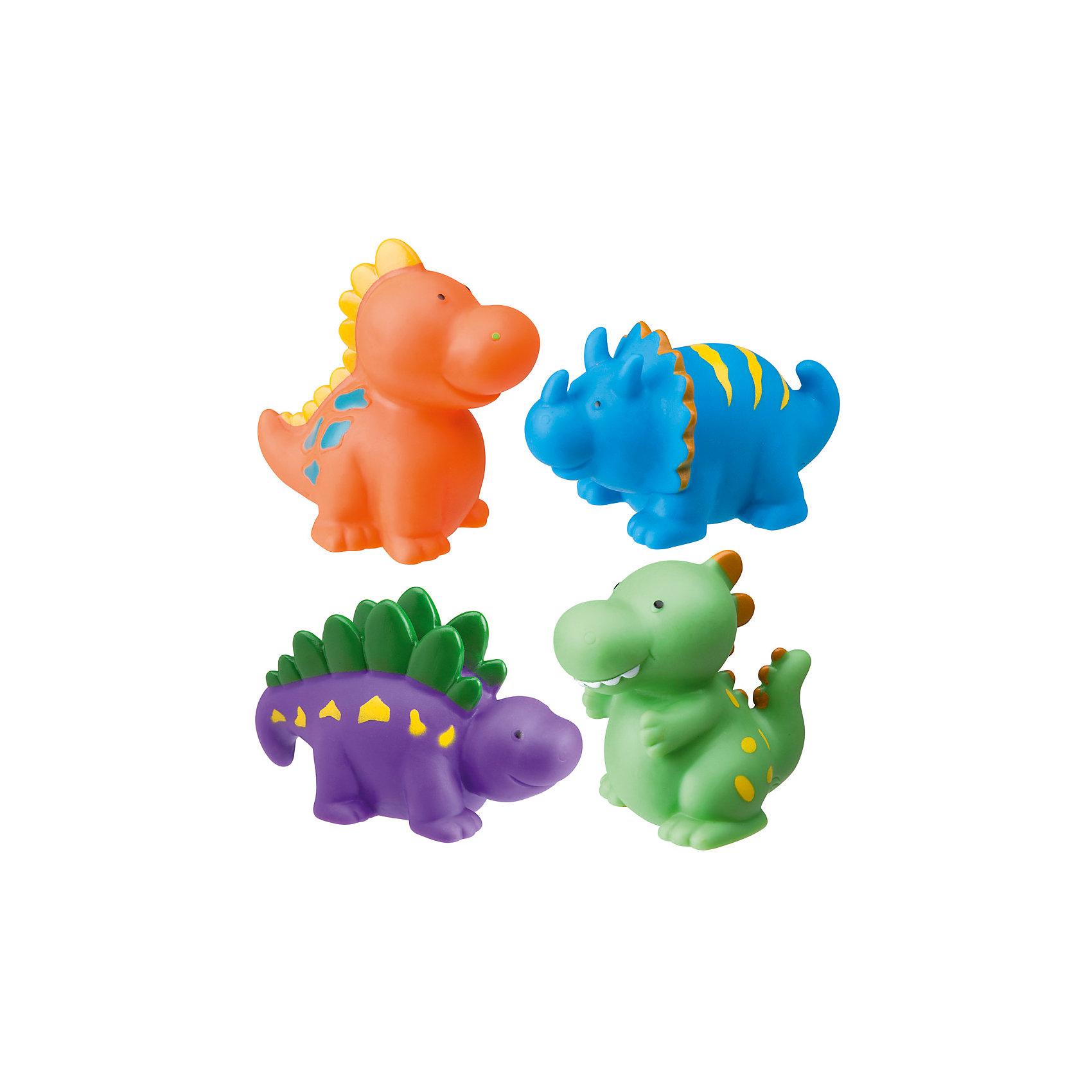 Набор игрушек для ванны Динозаврики, AlexИгрушки для ванной<br>Характеристики товара:<br><br>• возраст от 6 месяцев<br>• материал: резина<br>• в комплекте: 4 игрушки, сумочка<br>• высота игрушки 6 см<br>• игрушки-брызгалки<br>• размер упаковки 13,3х16х5 см<br>• вес упаковки 200 г.<br>• страна бренда: США<br>• страна производитель: США<br><br>Игрушки для ванны «Динозаврики» Alex сделают купание в ванной увлекательным и веселым. Игрушки выполнены в виде цветных динозавриков-пищалок. Если набрать в них и воды и сжать, то брызнет струйка воды. Игрушки изготовлены из экологичной резины. Для хранения предусмотрена удобная пластиковая сумочка с ручками.<br><br>Игрушки для ванны «Динозаврики» Alex 4 предмета можно приобрести в нашем интернет-магазине.<br><br>Ширина мм: 160<br>Глубина мм: 125<br>Высота мм: 65<br>Вес г: 214<br>Возраст от месяцев: 6<br>Возраст до месяцев: 10<br>Пол: Унисекс<br>Возраст: Детский<br>SKU: 2422326