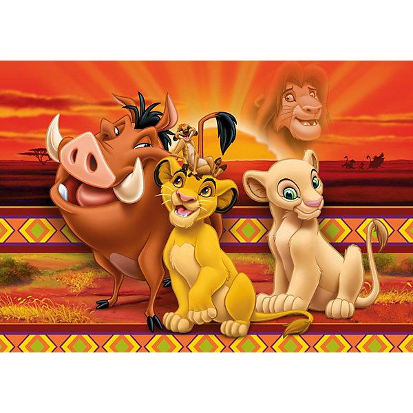 Пазл Король Лев, 104 детали, ДиснейПазлы для детей постарше<br>Пазл Король Лев, Дисней (Disney) - увлекательный набор для творчества, который будет интересен детям всех возрастов и даже их родителям. С помощью входящих в набор деталей Вы сможете собрать красочную картинку с изображением персонажей из популярного диснеевского мультфильма Король Лев (The Lion King). Пазл изготовлен из прочного картона высокого качества, изображение напечатано на бумаге, не отражающей свет, благодаря чему отчетливо видны все детали картины. Составные элементы пазла отлично соединяются между собой, при этом соединения практически незаметны.<br> <br>Собирание пазла способствует развитию логического мышления, внимания, воображения и мелкой моторики рук.<br><br>Дополнительная информация:<br><br>- Материал: картон.<br>- Размер собранного пазла: 49 х 34 см.<br>- Размер упаковки: 34 х 25 х 4 см.<br><br> Пазл Король Лев, Дисней можно купить в нашем интернет-магазине.<br><br>Ширина мм: 243<br>Глубина мм: 35<br>Высота мм: 343<br>Вес г: 421<br>Возраст от месяцев: 60<br>Возраст до месяцев: 108<br>Пол: Унисекс<br>Возраст: Детский<br>SKU: 2423991
