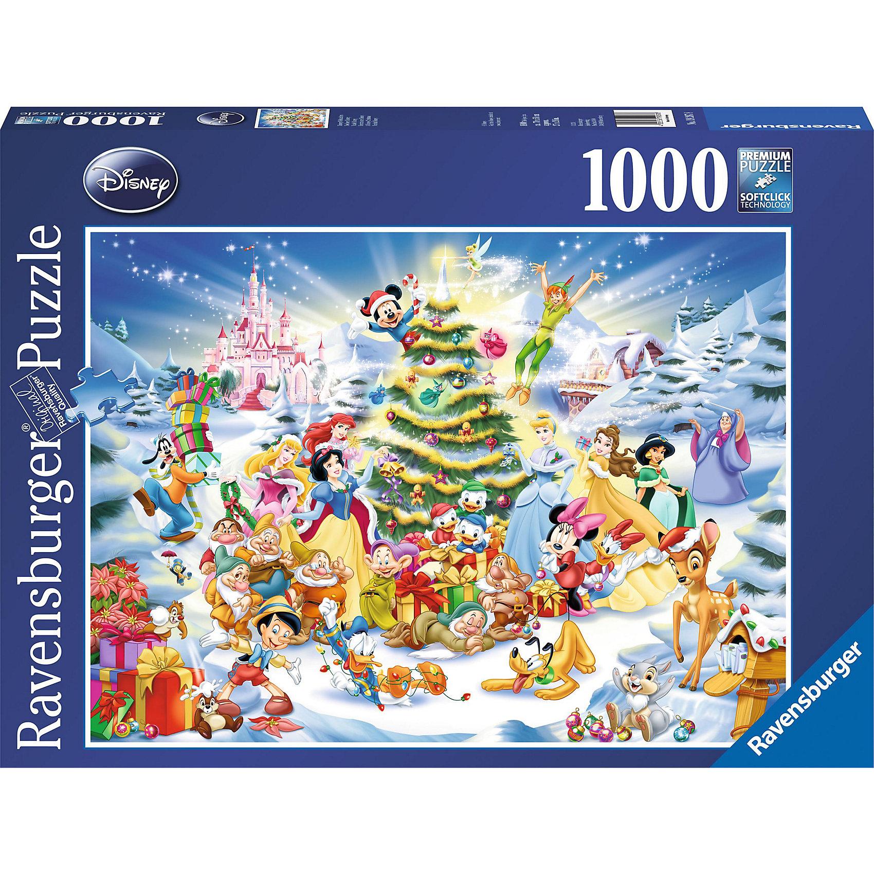 Пазл Рождество в стране Дисней 1000 деталей, Ravensburger