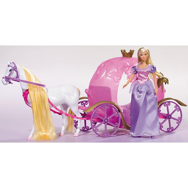 Кукла Штеффи и ее сказочная карета, SimbaНаборы с куклой<br>Характеристики товара:<br><br>- цвет: разноцветный;<br>- материал: пластик;<br>- возраст: от трех лет;<br>- комплектация: кукла, аксессуары, карета;<br>- высота куклы: 29 см.<br><br>Эта симпатичная кукла Штеффи от известного бренда не оставит девочку равнодушной! Какая девочка сможет отказаться поиграть с куклами, которые дополнены собственной каретой?! В набор входят аксессуары для игр с куклой. Игрушка очень качественно выполнена, поэтому она станет замечательным подарком ребенку. <br>Продается набор в красивой удобной упаковке. Игры с куклами помогают девочкам развить важные навыки и отработать модели социального взаимодействия. Изделие произведено из высококачественного материала, безопасного для детей.<br><br>Куклу Штеффи и ее сказочная карета от бренда Simba можно купить в нашем интернет-магазине.<br>Ширина мм: 200; Глубина мм: 600; Высота мм: 290; Вес г: 1639; Возраст от месяцев: 36; Возраст до месяцев: 72; Пол: Женский; Возраст: Детский; SKU: 2429675;