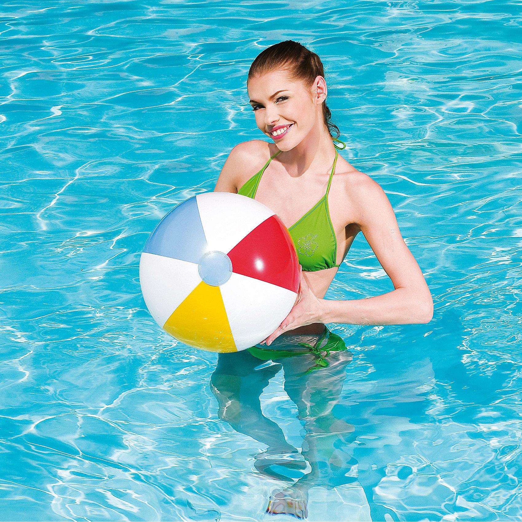 Мяч пляжный 51 см, BestwayМячи детские<br>Характеристики товара:<br><br>• материал: винил<br>• диаметр: 51 см<br>• надувной<br>• можно играть на воде и на суше<br>• прочный материал <br>• яркие цвета<br>• хорошо заметен на воде<br>• страна бренда: США, Китай<br>• страна производства: Китай<br><br>Такой мяч позволяет не только участвовать в активных играх, он поможет ребенку больше двигаться и поддерживать хорошую физическую форму.<br><br>Предмет сделаны из прочного материала, он легко надувается. Мяч легкий, его удобно брать с собой. Изделия произведены из качественных и безопасных для детей материалов.<br><br>Надувной пляжный мяч 51 см, от бренда Bestway (Бествей) можно купить в нашем интернет-магазине.<br><br>Ширина мм: 20<br>Глубина мм: 267<br>Высота мм: 146<br>Вес г: 200<br>Возраст от месяцев: 24<br>Возраст до месяцев: 1188<br>Пол: Унисекс<br>Возраст: Детский<br>SKU: 2430564